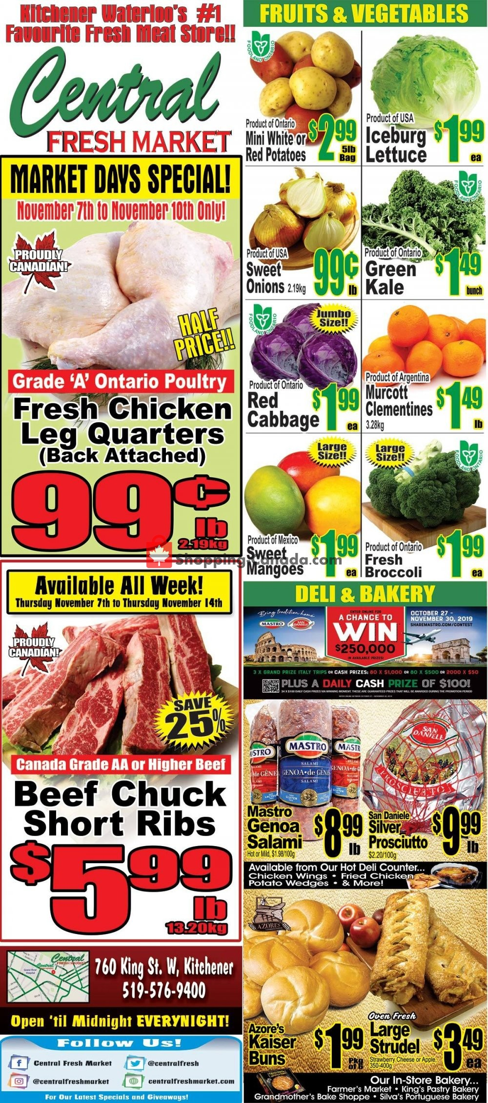 Flyer Central Fresh Market Canada - from Thursday November 7, 2019 to Thursday November 14, 2019