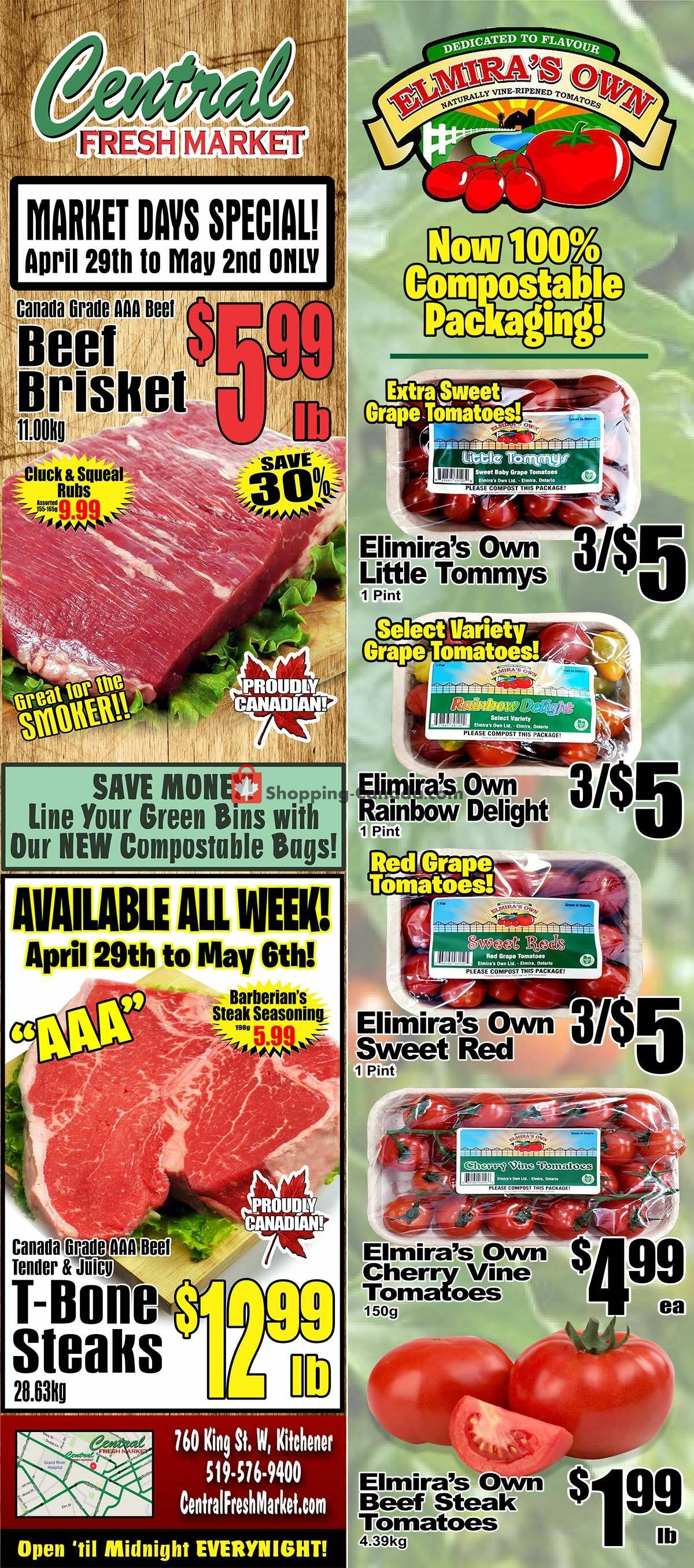 Flyer Central Fresh Market Canada - from Thursday April 29, 2021 to Thursday May 6, 2021