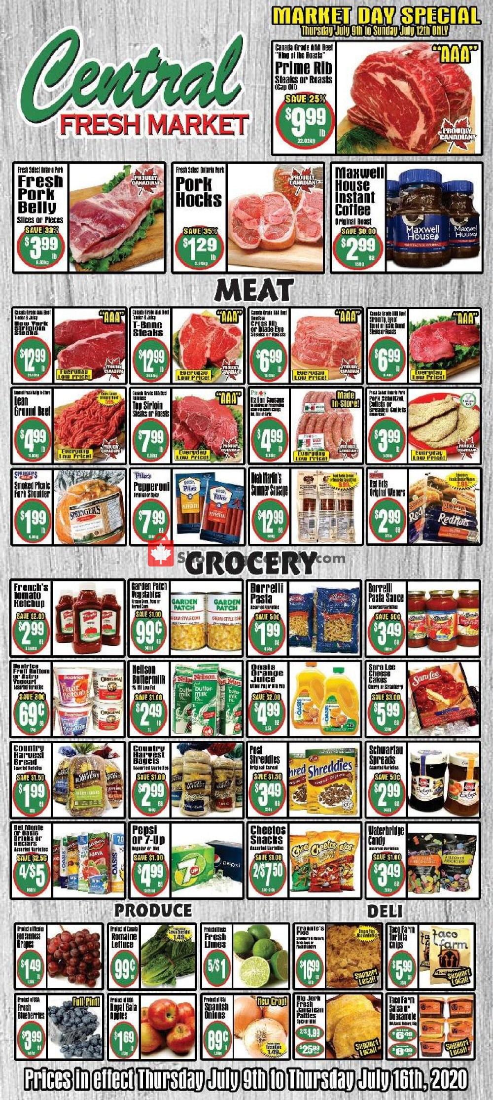 Flyer Central Fresh Market Canada - from Thursday July 9, 2020 to Thursday July 16, 2020