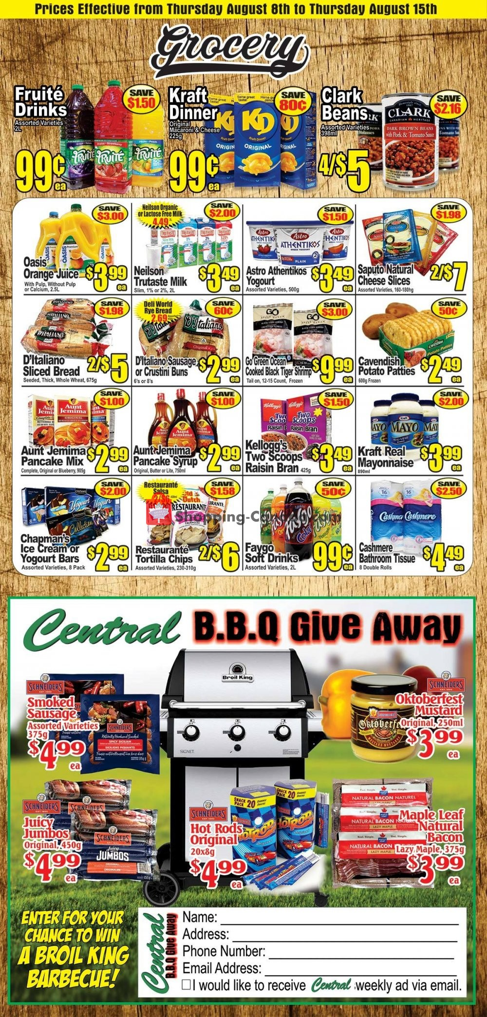 Flyer Central Fresh Market Canada - from Thursday August 8, 2019 to Thursday August 15, 2019