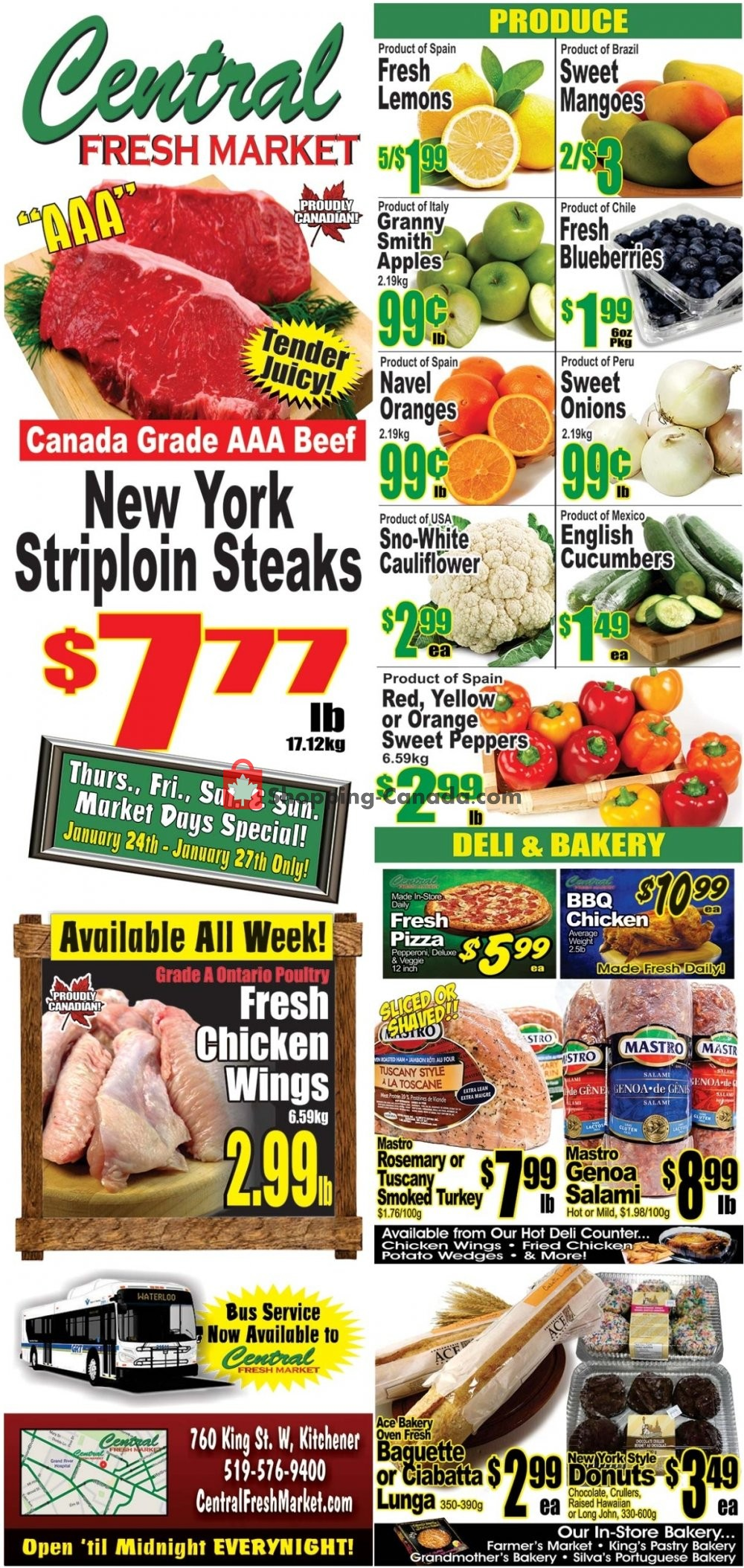 Flyer Central Fresh Market Canada - from Friday January 25, 2019 to Friday February 1, 2019