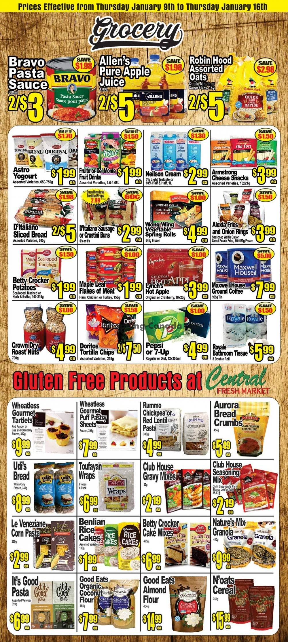 Flyer Central Fresh Market Canada - from Thursday January 9, 2020 to Thursday January 16, 2020