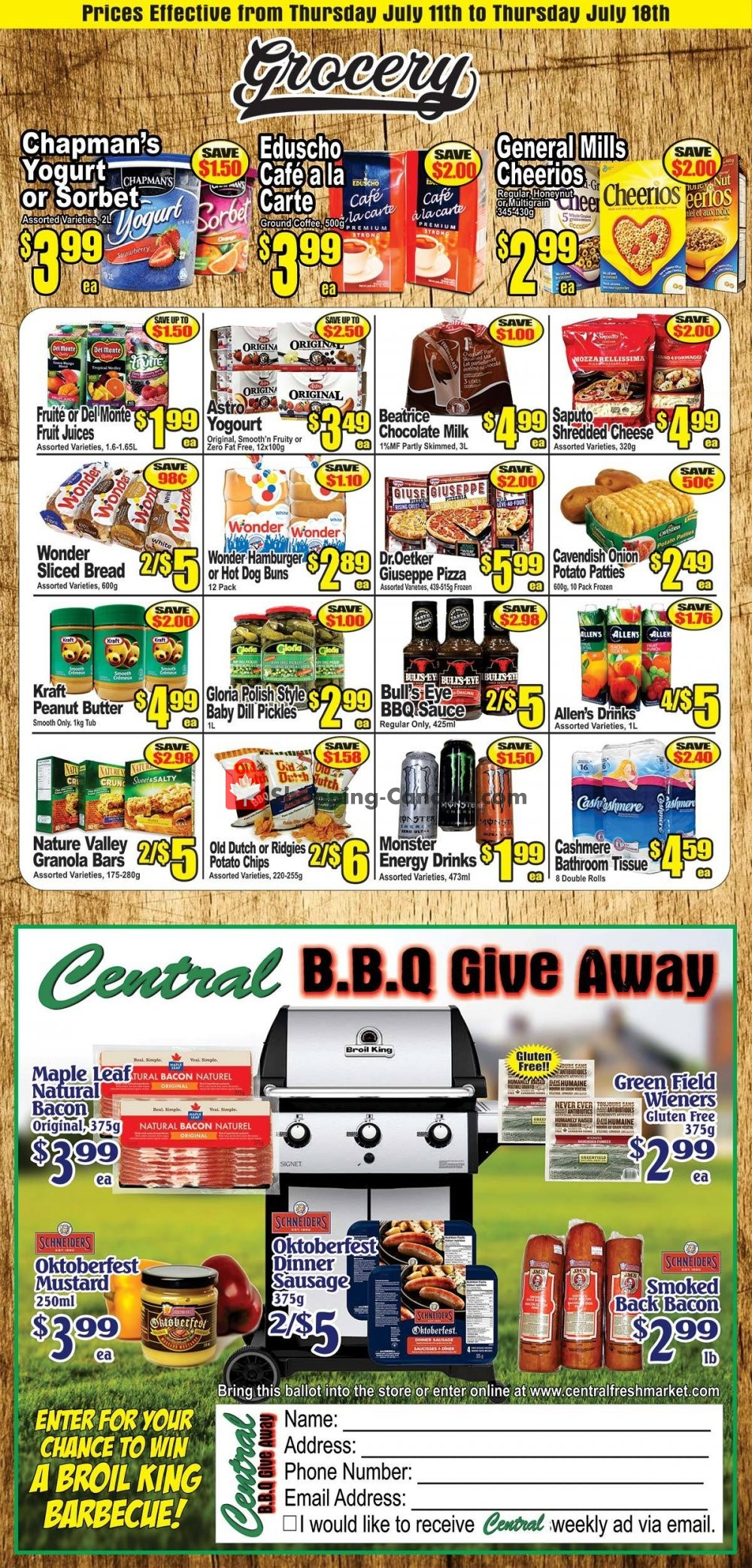 Flyer Central Fresh Market Canada - from Thursday July 11, 2019 to Thursday July 18, 2019