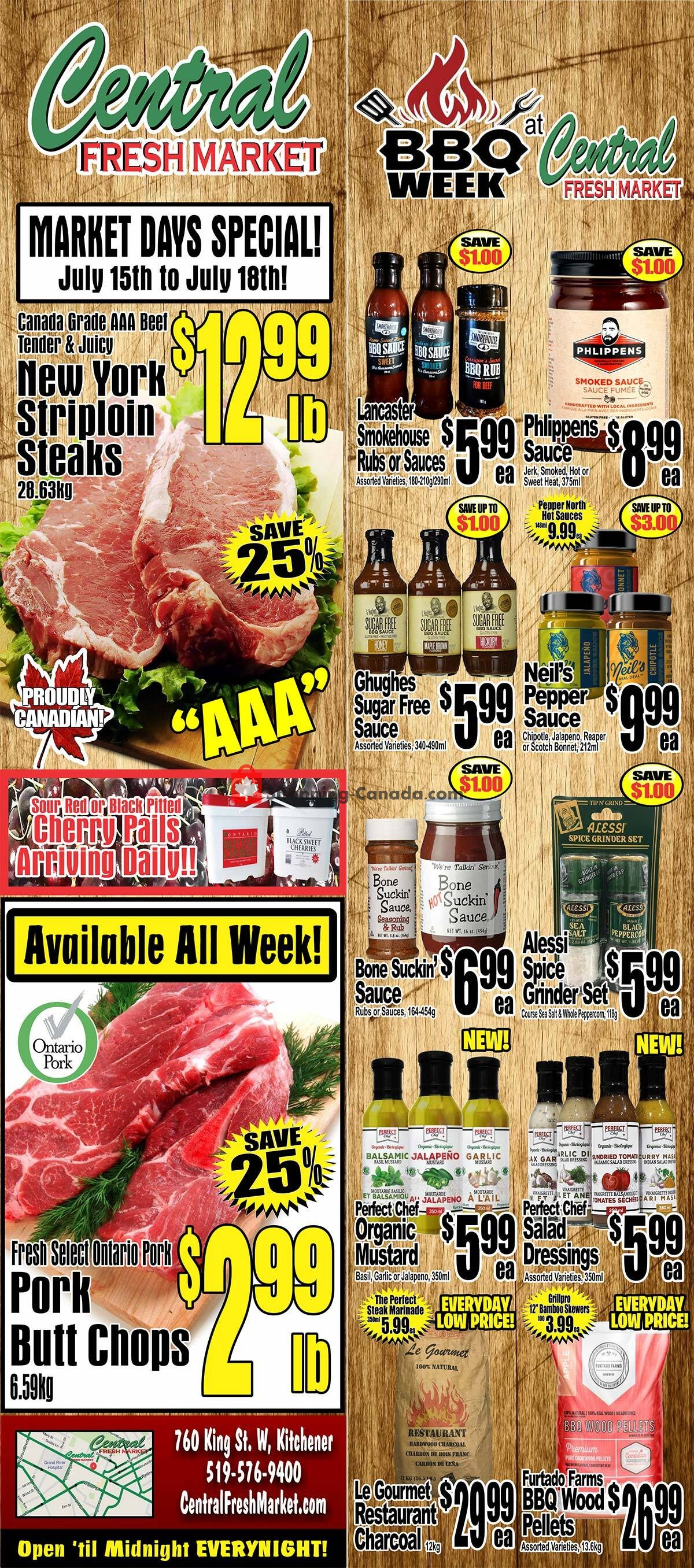 Flyer Central Fresh Market Canada - from Thursday July 15, 2021 to Thursday July 22, 2021