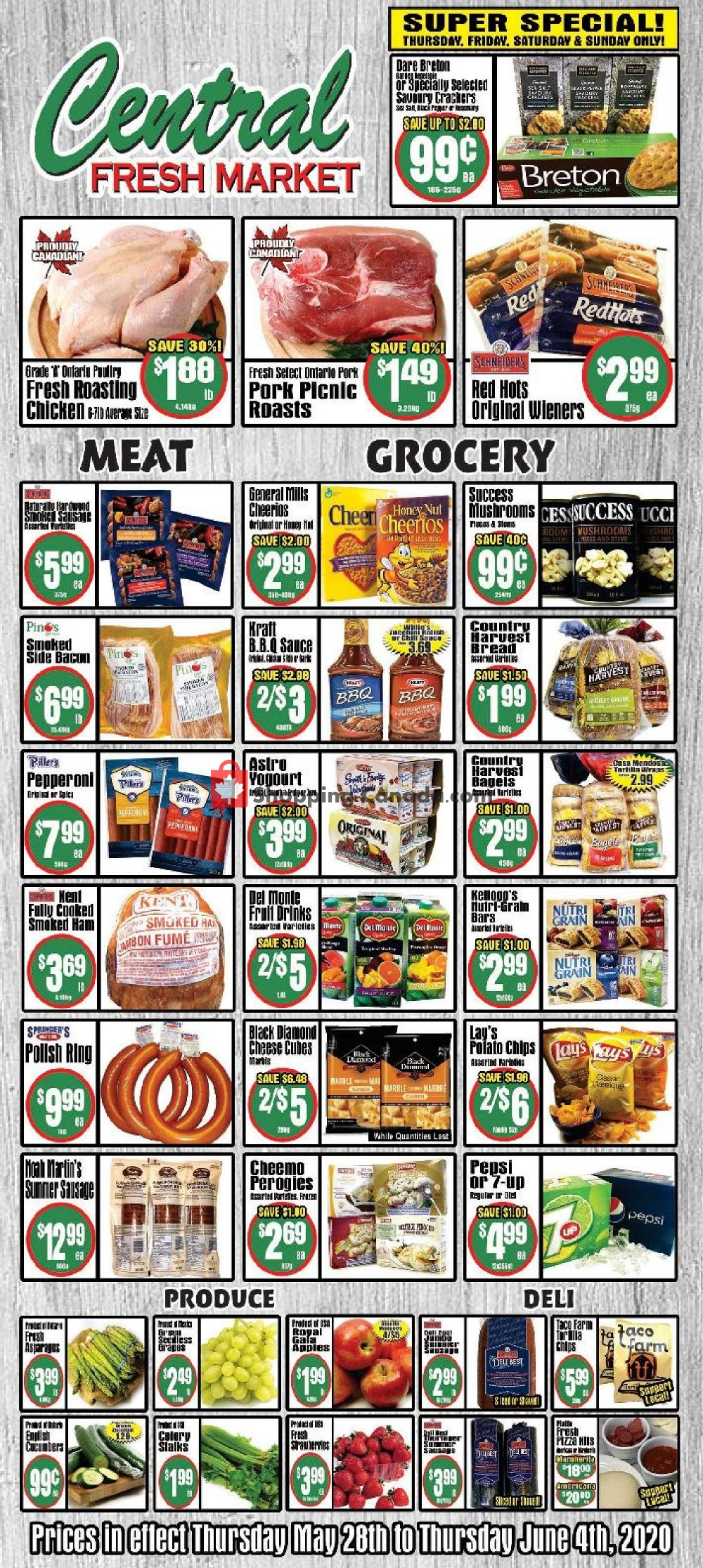 Flyer Central Fresh Market Canada - from Thursday May 28, 2020 to Thursday June 4, 2020