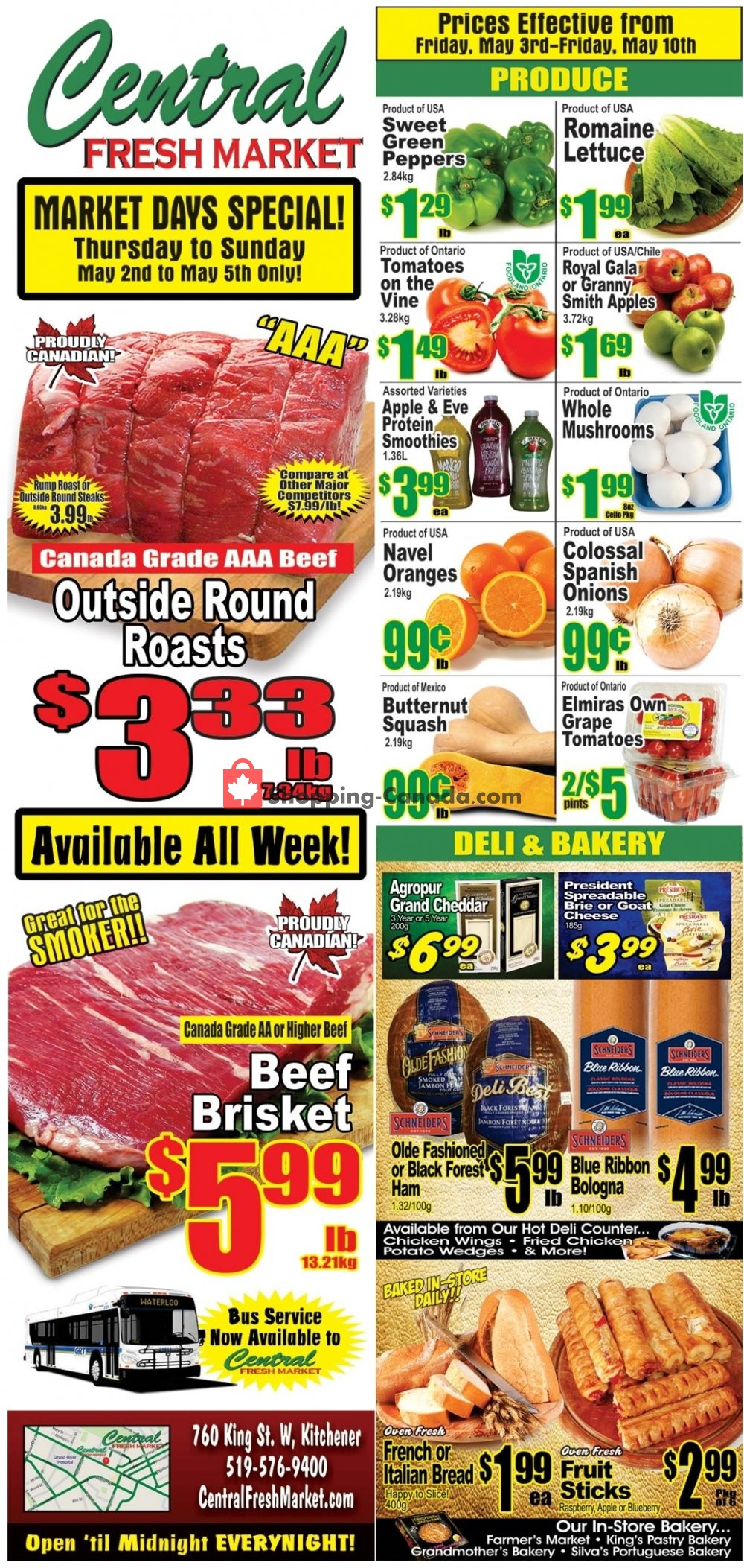 Flyer Central Fresh Market Canada - from Friday May 3, 2019 to Friday May 10, 2019