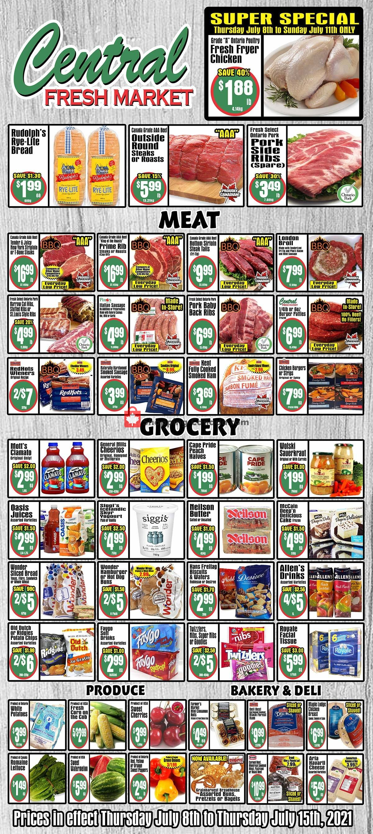 Flyer Central Fresh Market Canada - from Thursday July 8, 2021 to Thursday July 15, 2021