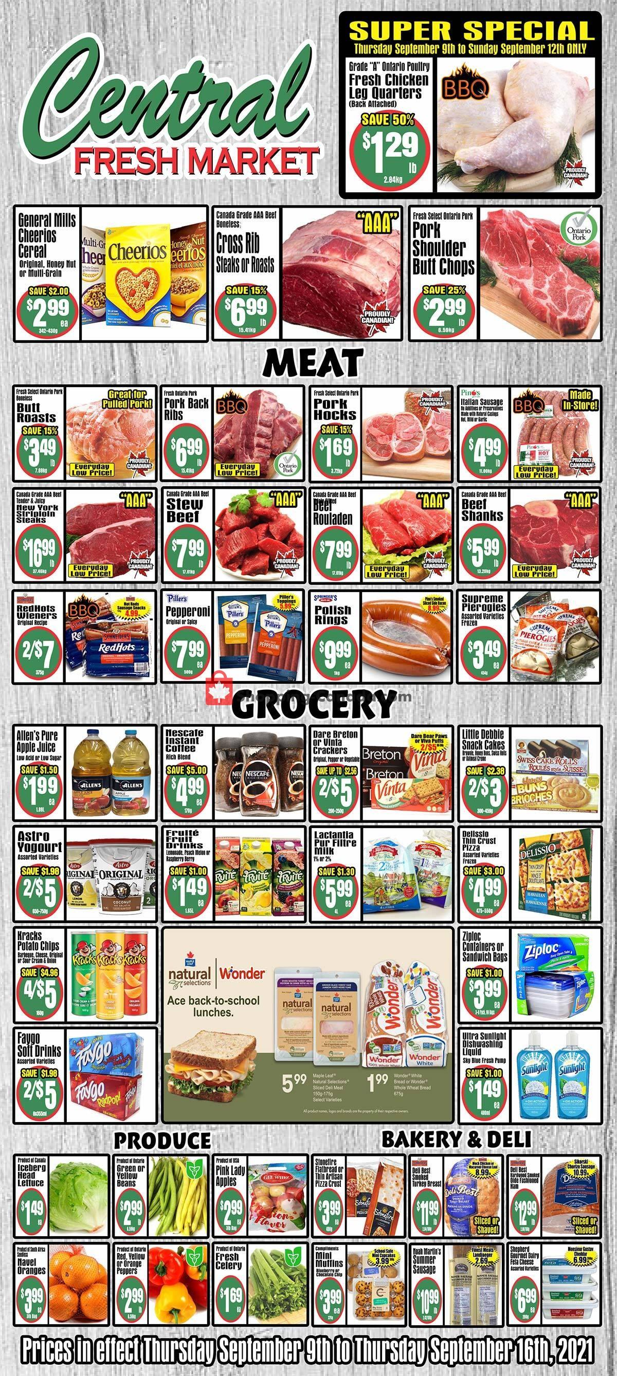Flyer Central Fresh Market Canada - from Thursday September 9, 2021 to Thursday September 16, 2021