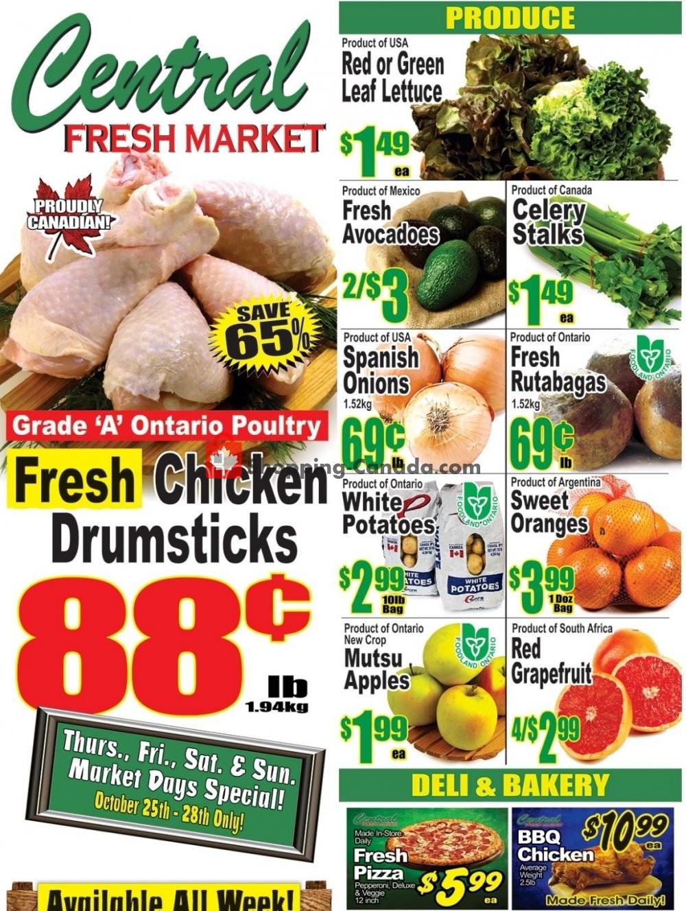 Flyer Central Fresh Market Canada - from Friday October 26, 2018 to Friday November 2, 2018