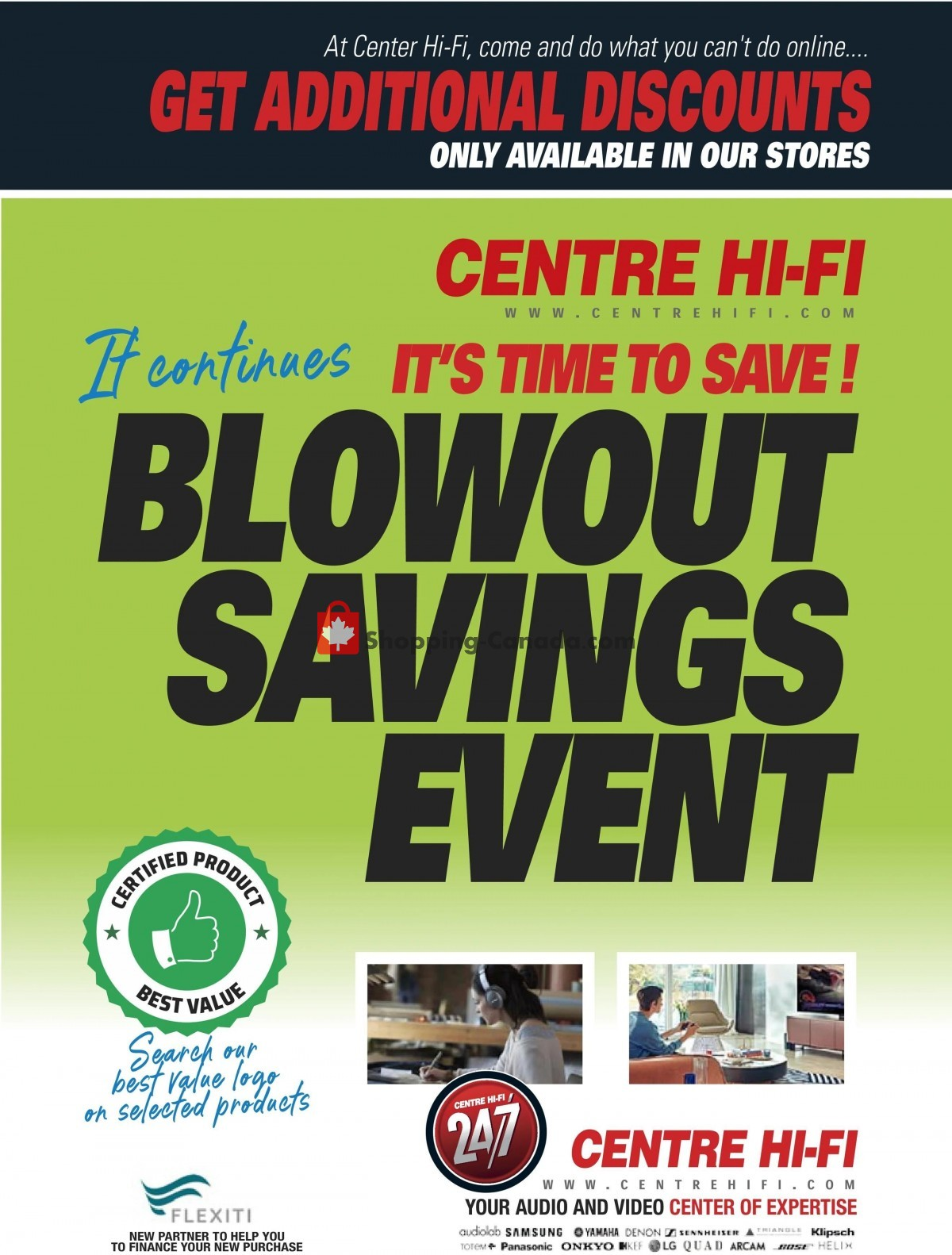 Flyer Centre Hi-Fi Canada - from Friday July 9, 2021 to Thursday July 15, 2021