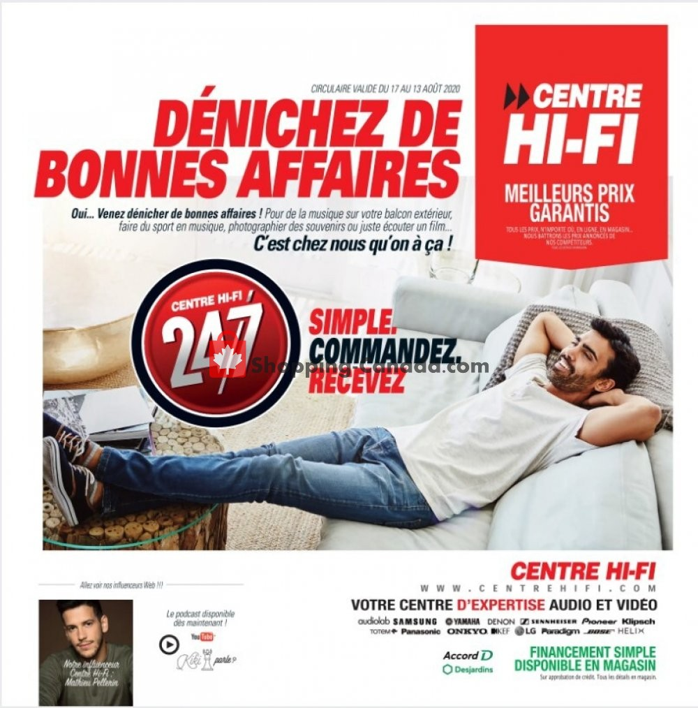 Flyer Centre Hi-Fi Canada - from Friday August 7, 2020 to Thursday August 13, 2020