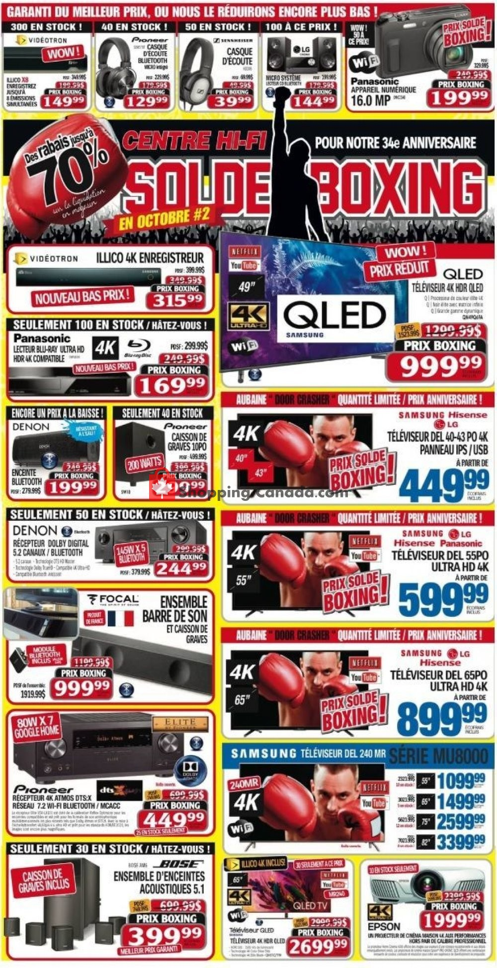 Flyer Centre Hi-Fi Canada - from Friday October 19, 2018 to Thursday October 25, 2018