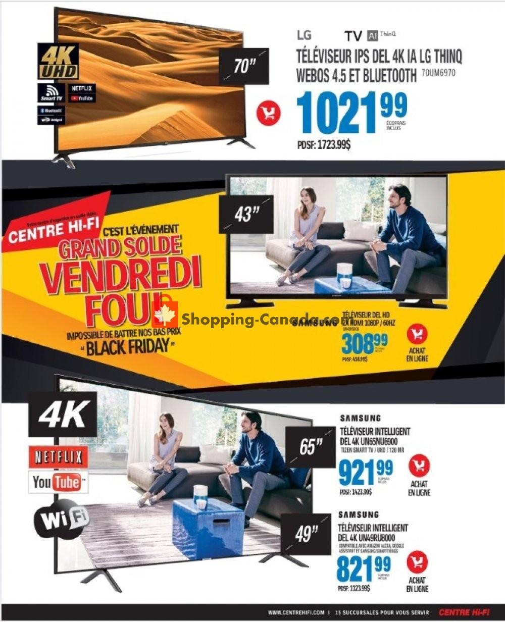 Flyer Centre Hi-Fi Canada - from Friday November 8, 2019 to Thursday November 14, 2019