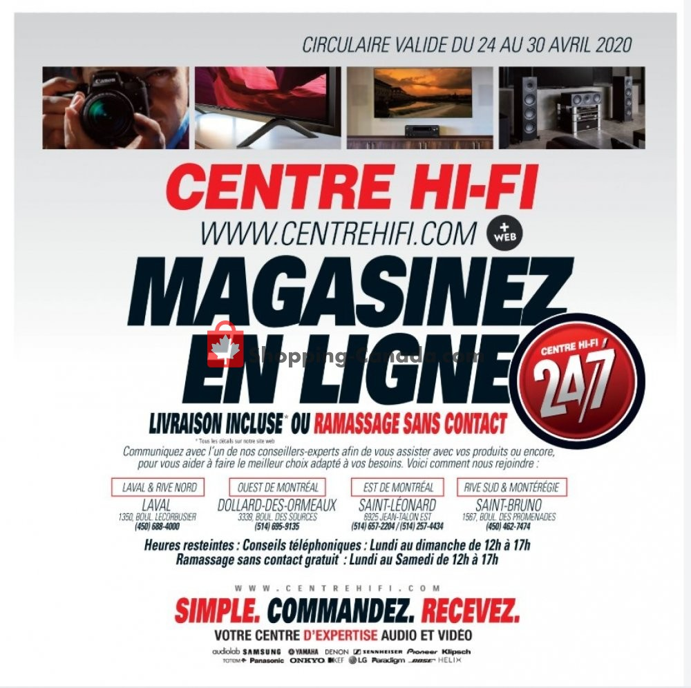 Flyer Centre Hi-Fi Canada - from Friday April 24, 2020 to Thursday April 30, 2020