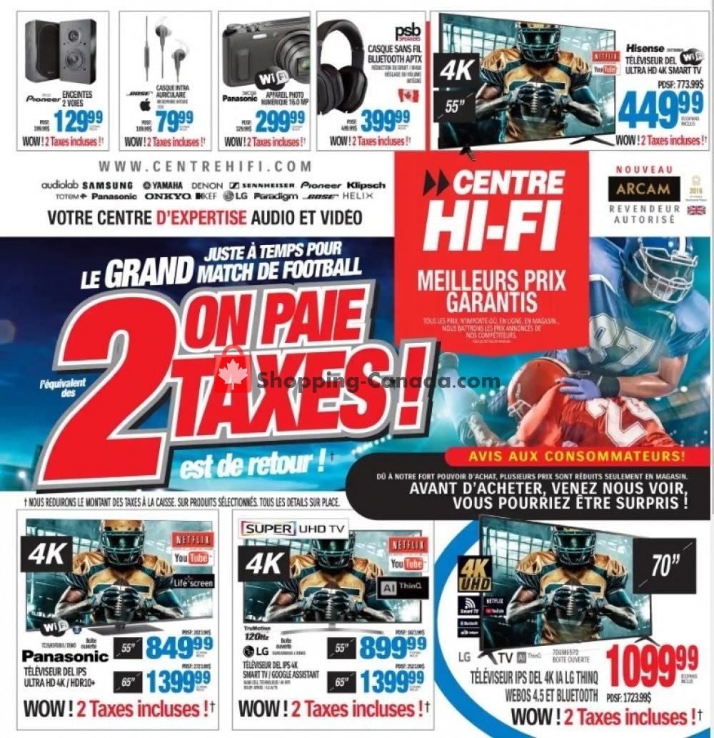 Flyer Centre Hi-Fi Canada - from Friday January 31, 2020 to Thursday February 6, 2020