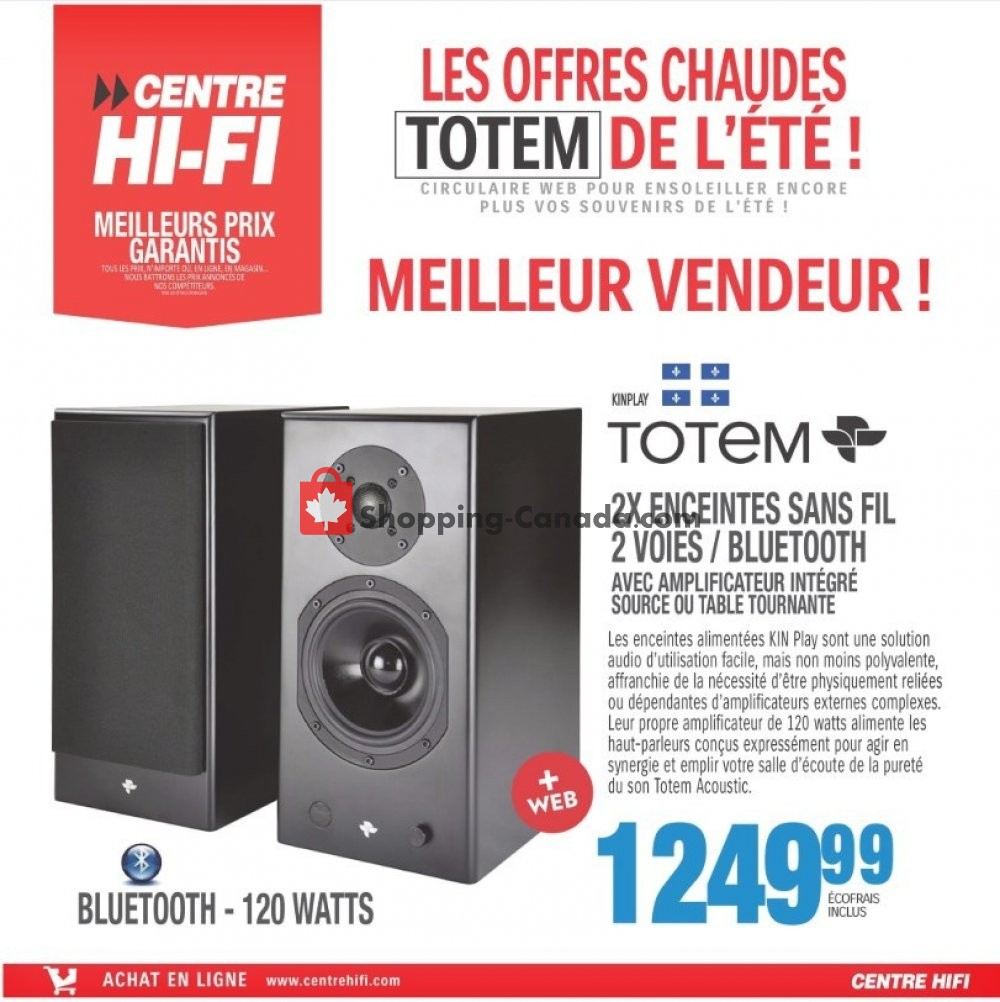 Flyer Centre Hi-Fi Canada - from Friday July 12, 2019 to Thursday July 18, 2019