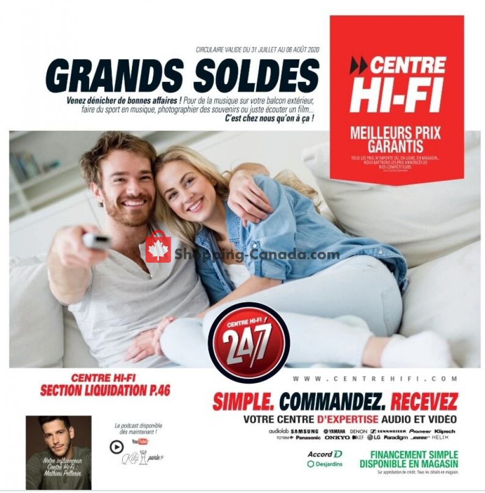 Flyer Centre Hi-Fi Canada - from Friday July 31, 2020 to Thursday August 6, 2020