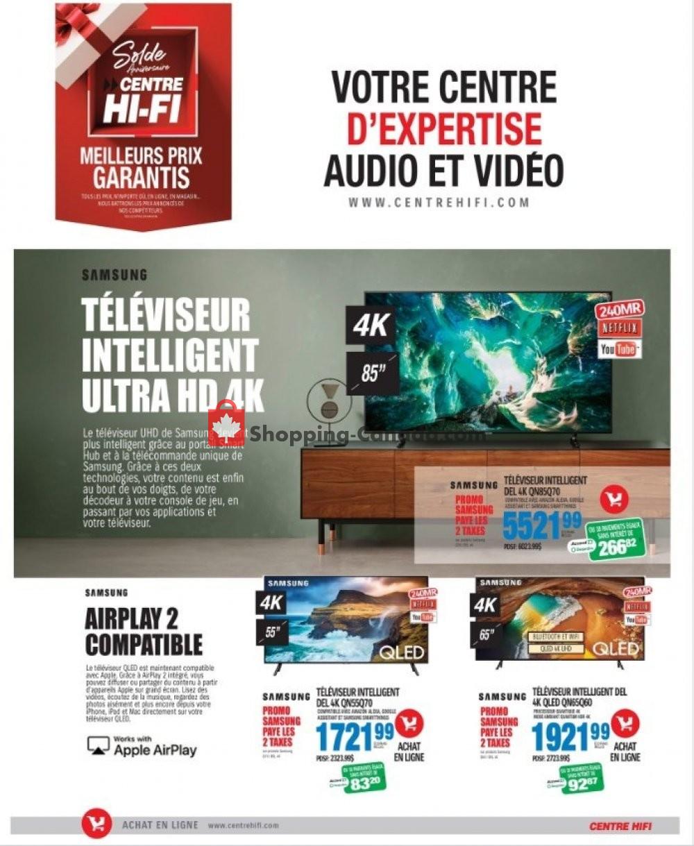 Flyer Centre Hi-Fi Canada - from Friday October 4, 2019 to Thursday October 10, 2019