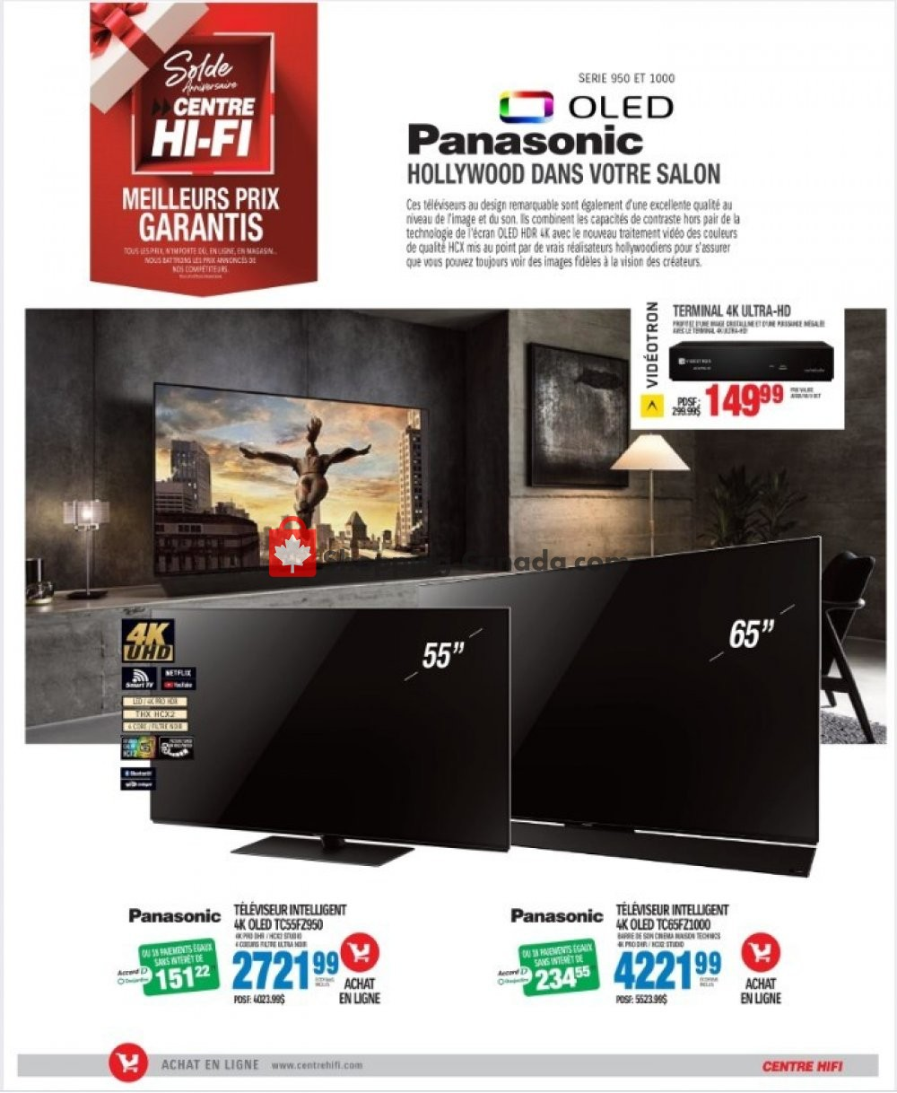 Flyer Centre Hi-Fi Canada - from Friday October 4, 2019 to Thursday October 10, 2019
