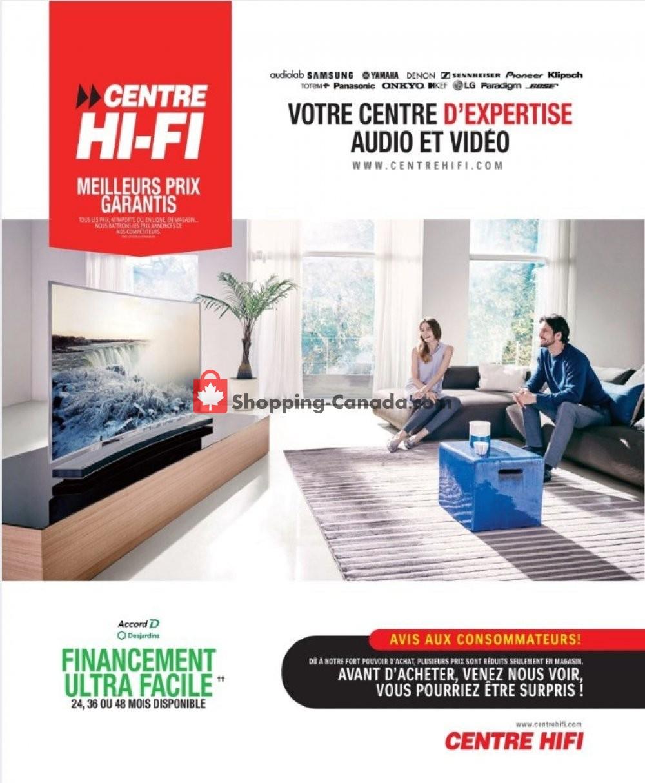 Flyer Centre Hi-Fi Canada - from Friday September 13, 2019 to Thursday September 19, 2019