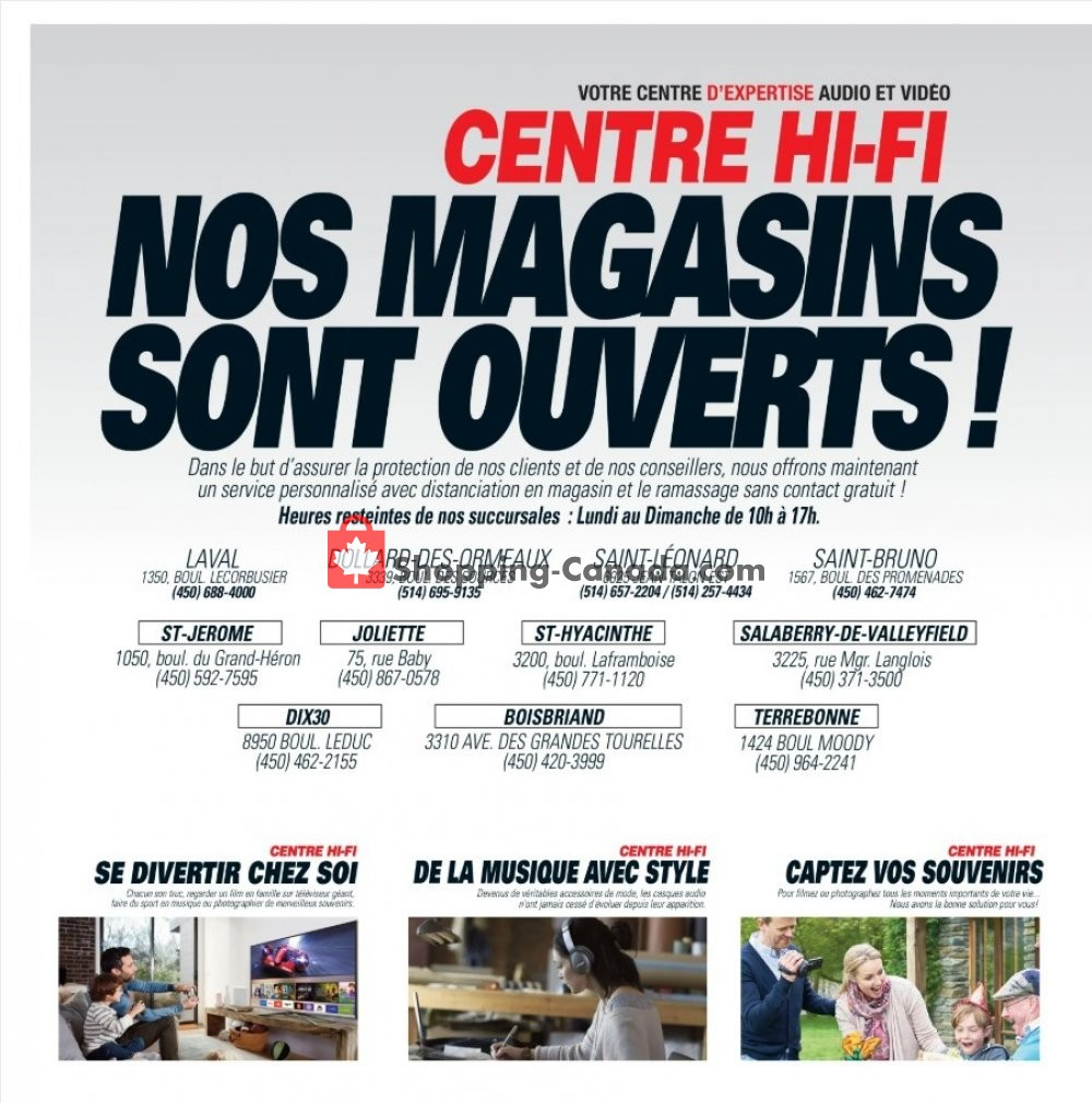Flyer Centre Hi-Fi Canada - from Friday May 29, 2020 to Thursday June 4, 2020
