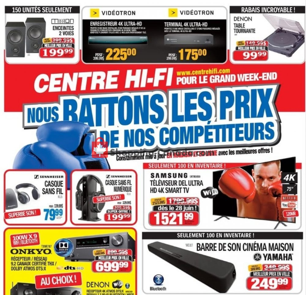 Flyer Centre Hi-Fi Canada - from Friday June 21, 2019 to Thursday July 4, 2019