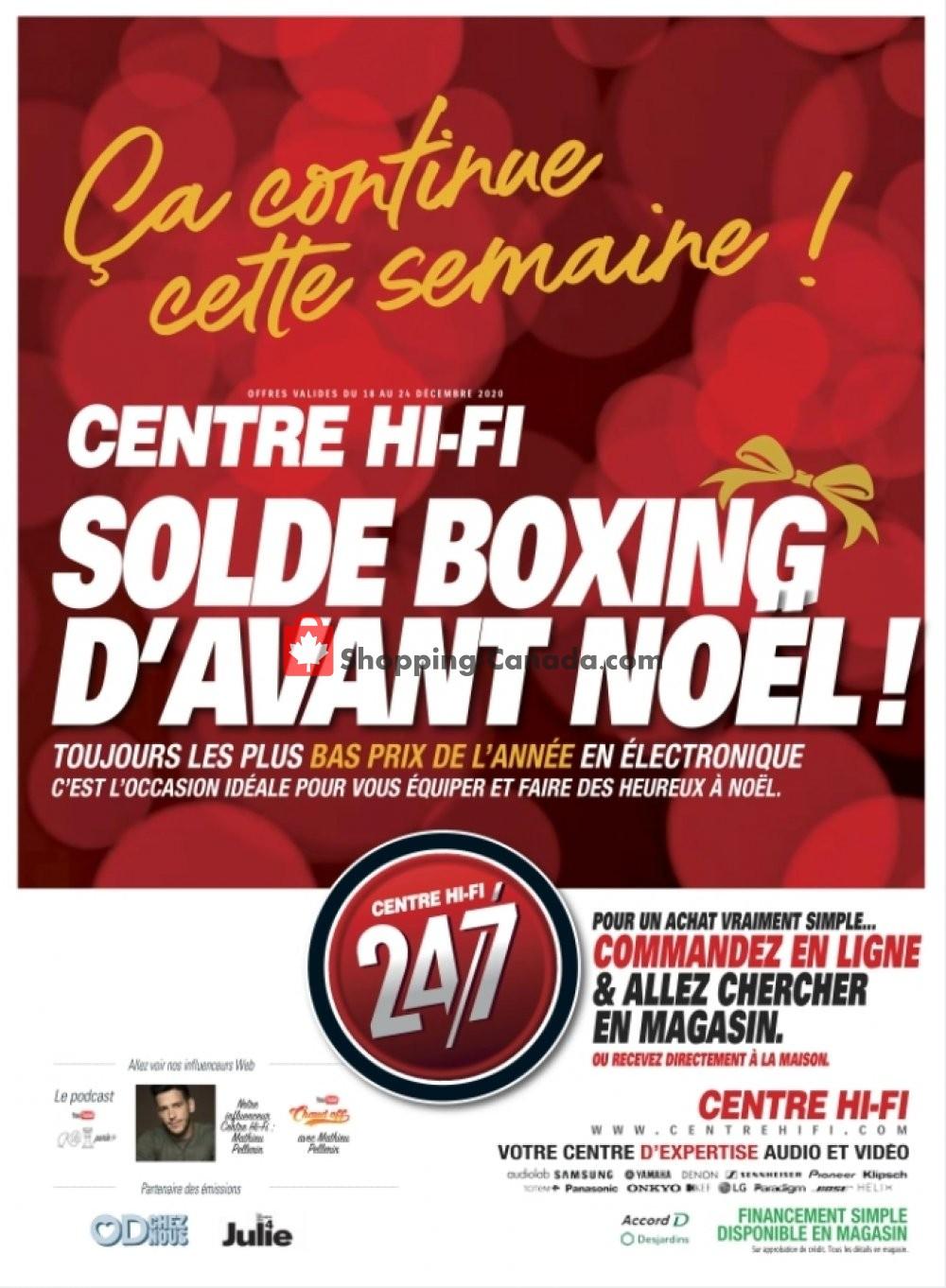 Flyer Centre Hi-Fi Canada - from Friday December 18, 2020 to Thursday December 24, 2020