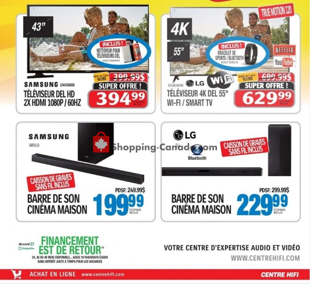 Flyer Centre Hi-Fi Canada - from Friday July 19, 2019 to Thursday July 25, 2019