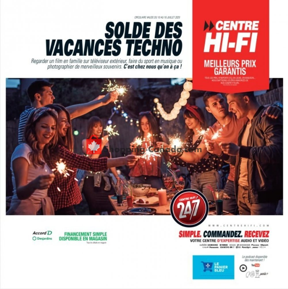 Flyer Centre Hi-Fi Canada - from Friday July 10, 2020 to Thursday July 16, 2020