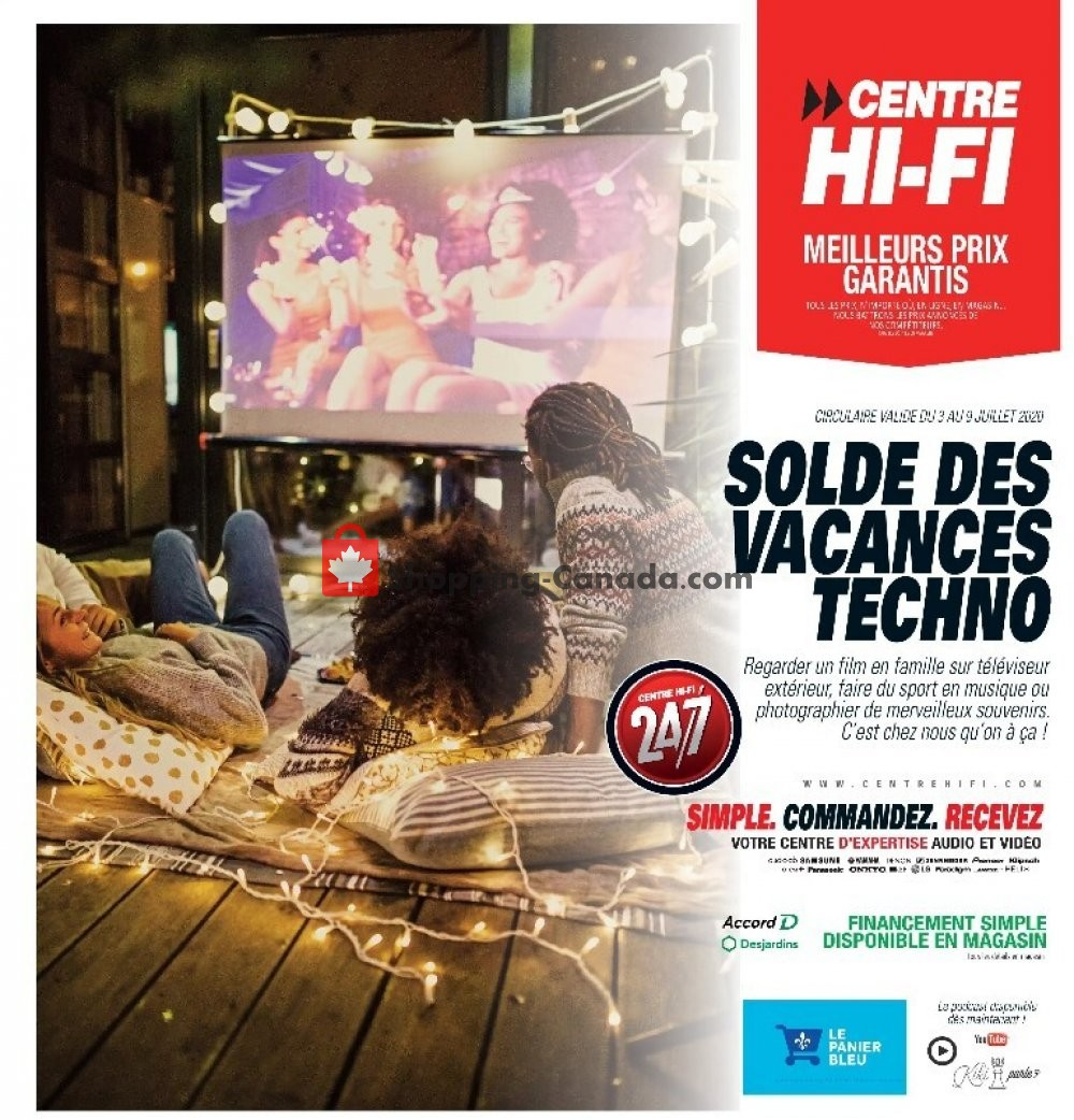 Flyer Centre Hi-Fi Canada - from Friday July 3, 2020 to Thursday July 9, 2020