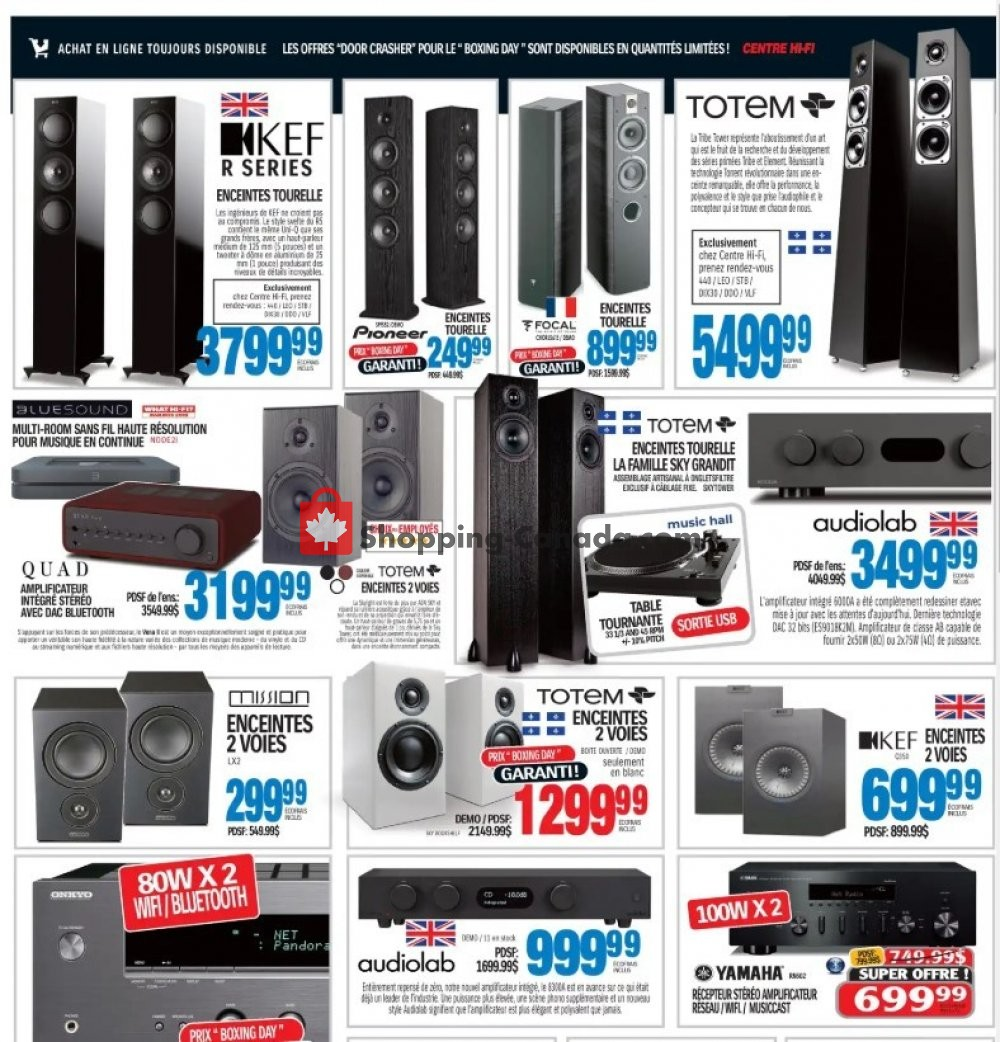 Flyer Centre Hi-Fi Canada - from Friday January 10, 2020 to Thursday January 16, 2020