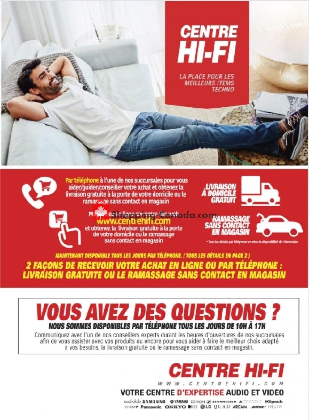Flyer Centre Hi-Fi Canada - from Friday January 15, 2021 to Thursday January 21, 2021