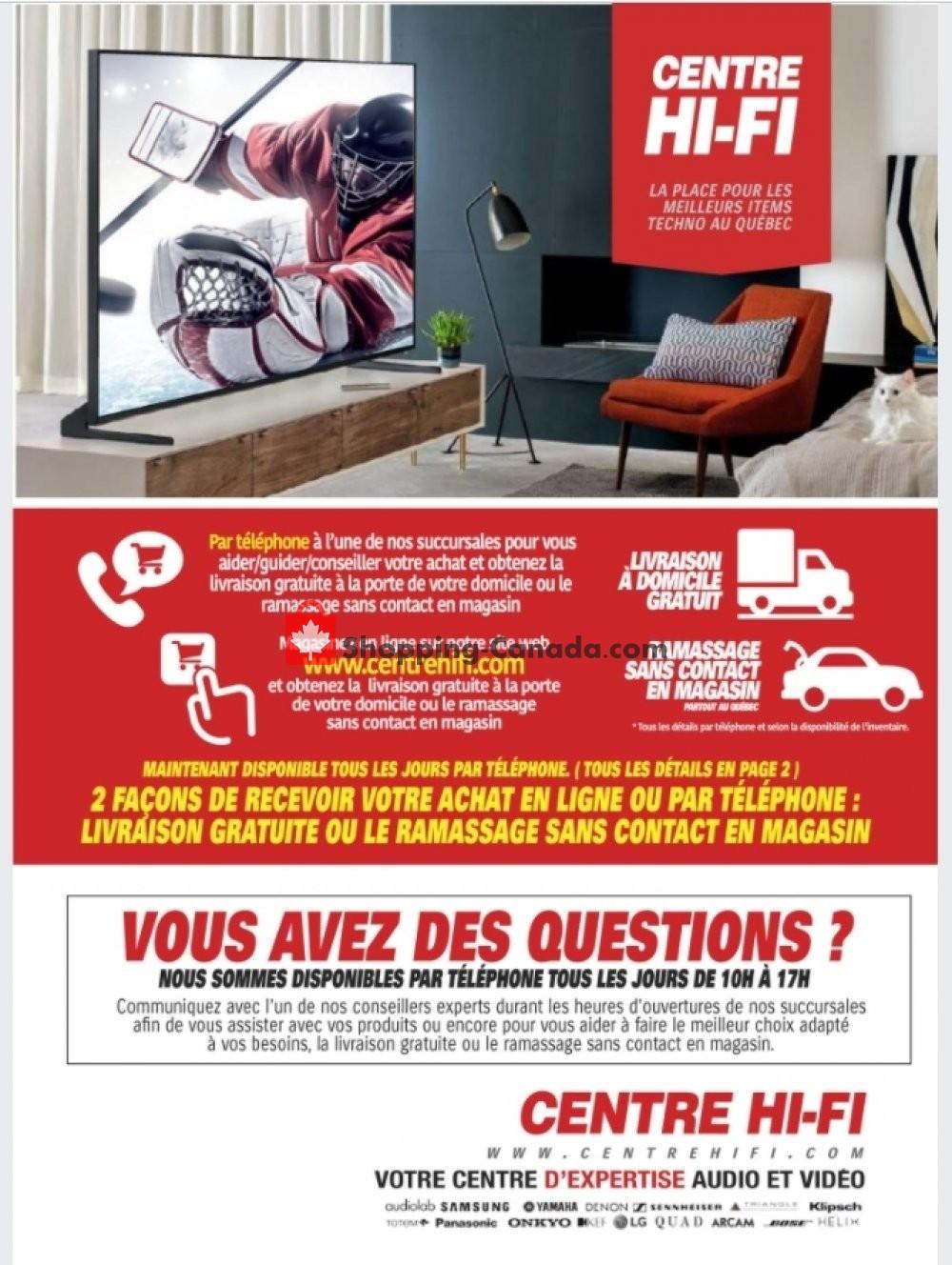 Flyer Centre Hi-Fi Canada - from Friday January 22, 2021 to Thursday January 28, 2021