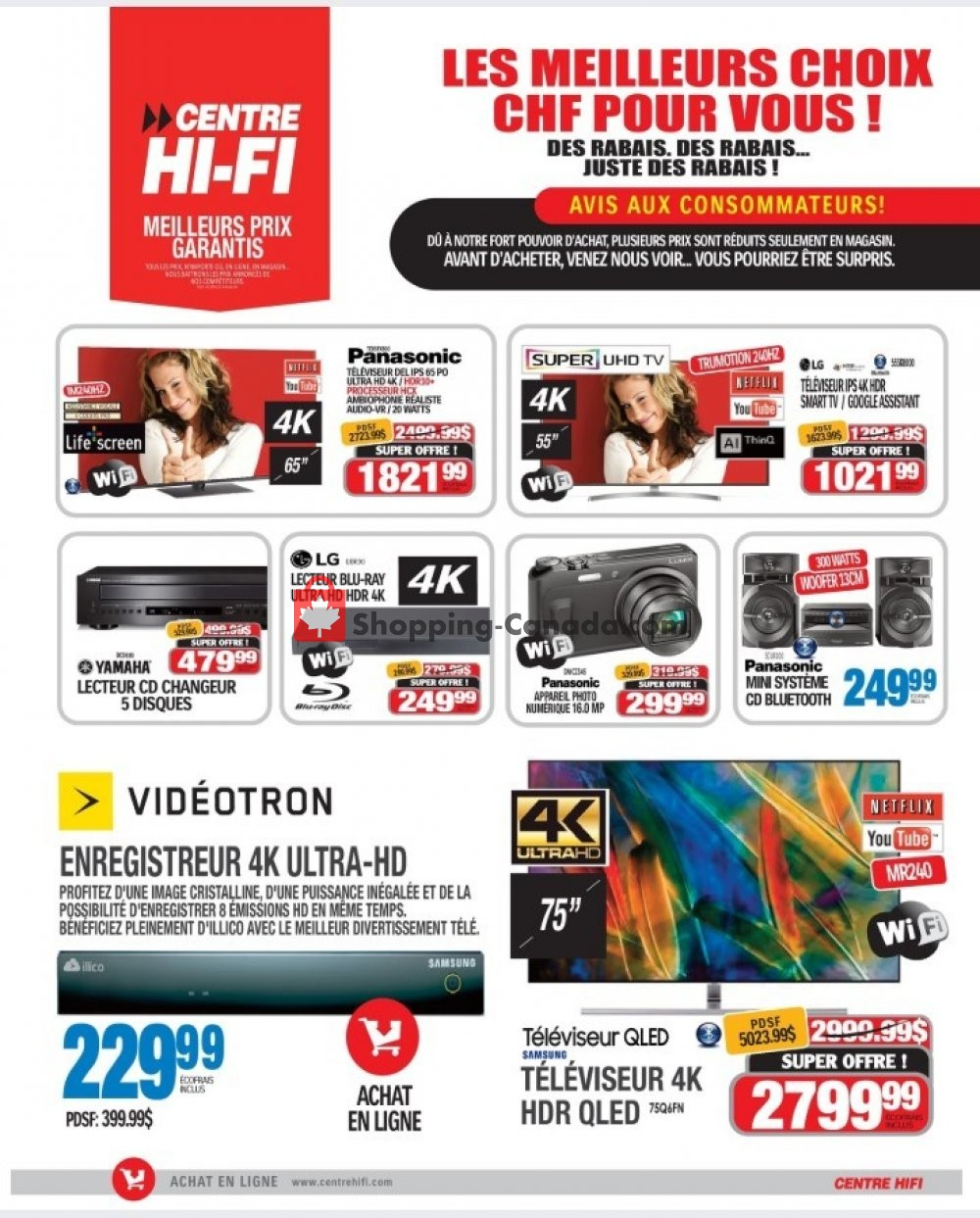 Flyer Centre Hi-Fi Canada - from Friday September 6, 2019 to Thursday September 12, 2019