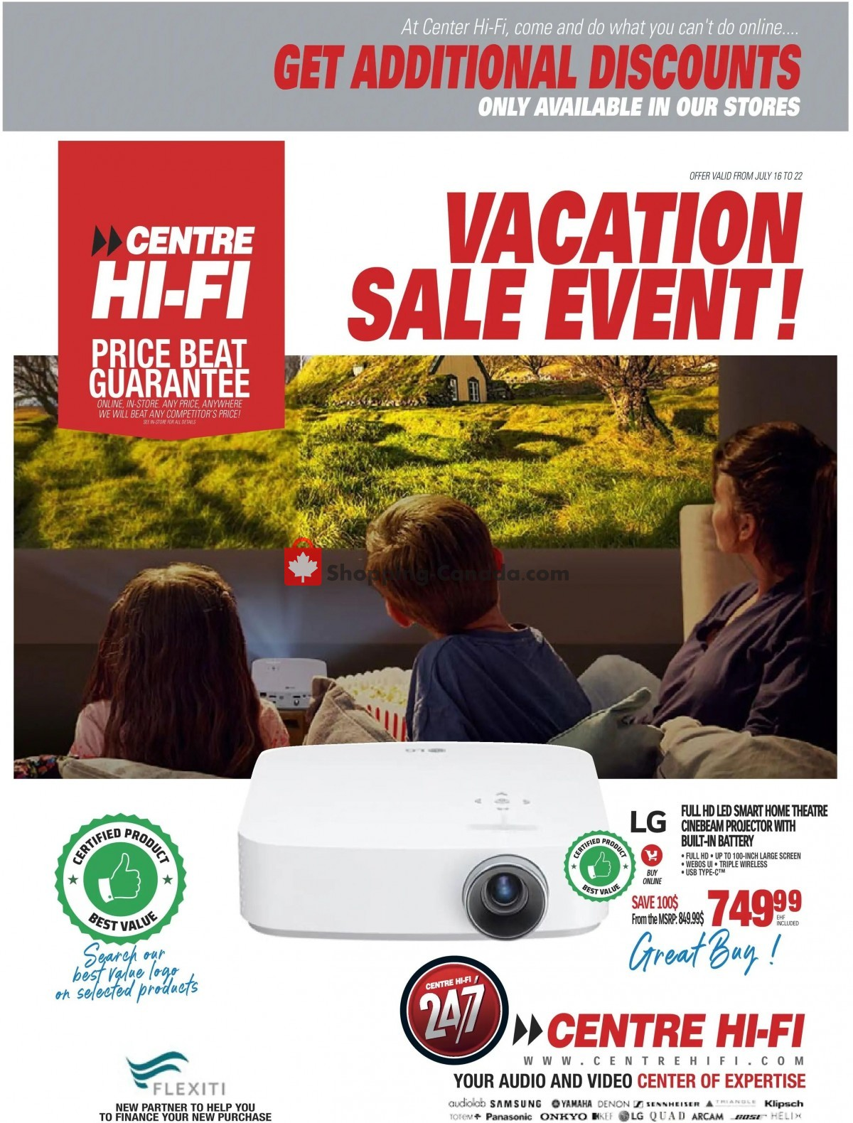 Flyer Centre Hi-Fi Canada - from Friday July 16, 2021 to Thursday July 22, 2021