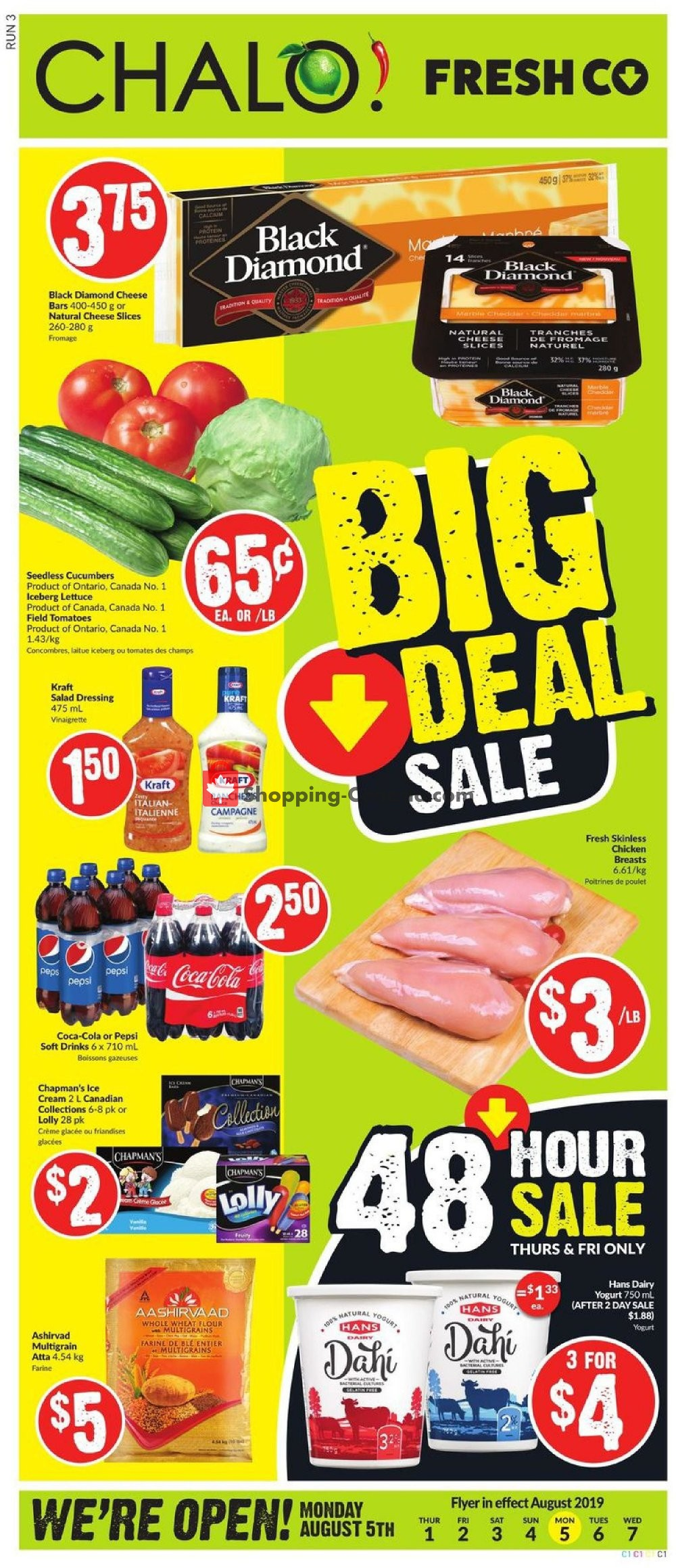 Flyer Chalo FreshCo Canada - from Thursday August 1, 2019 to Wednesday August 7, 2019