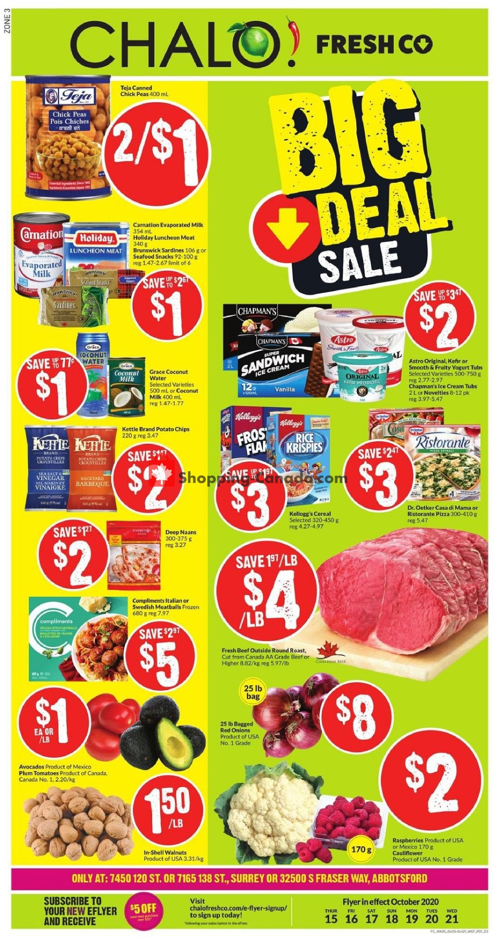 Flyer Chalo FreshCo Canada - from Thursday October 15, 2020 to Wednesday October 21, 2020