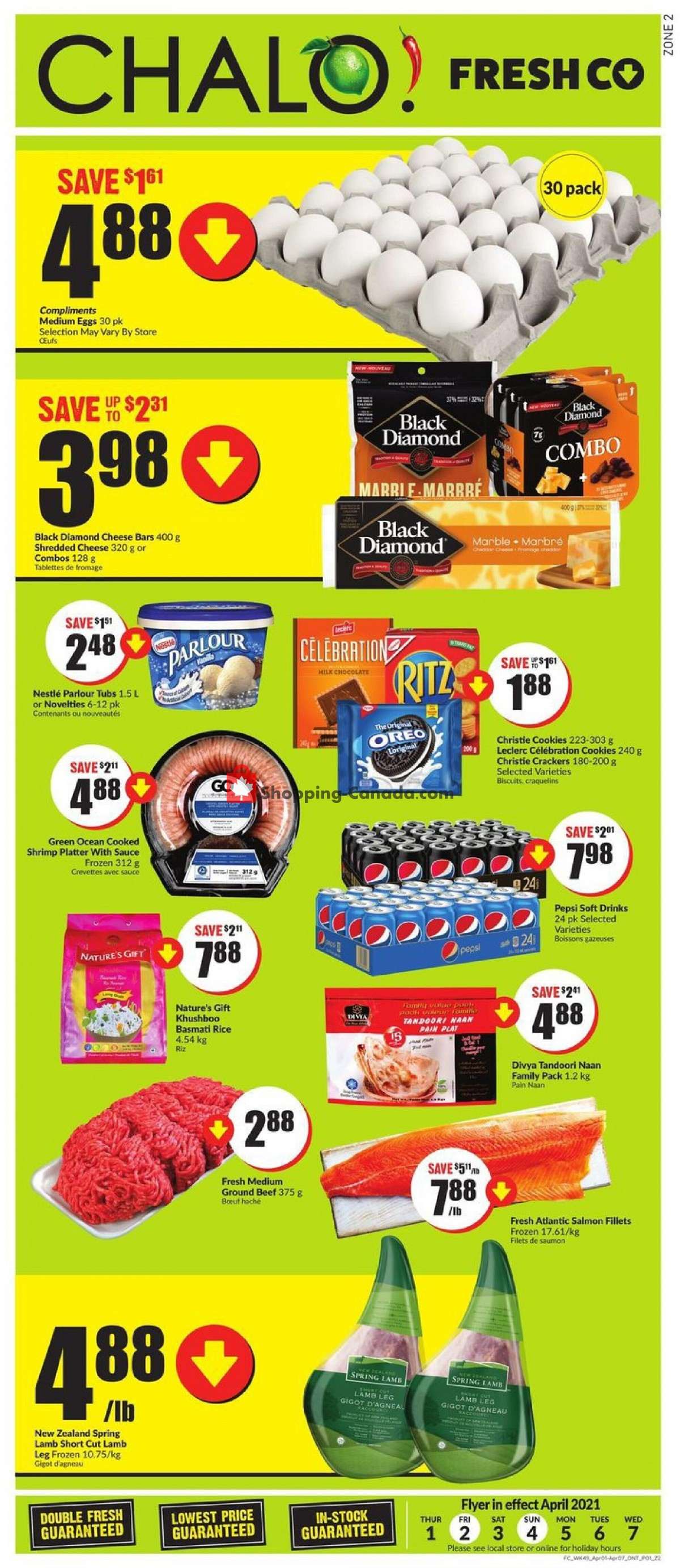 Flyer Chalo FreshCo Canada - from Thursday April 1, 2021 to Wednesday April 7, 2021