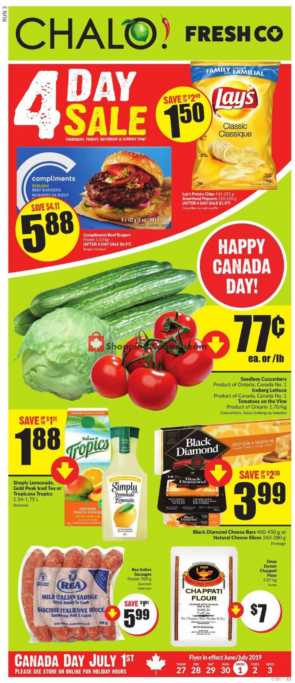 Flyer Chalo FreshCo Canada - from Thursday June 27, 2019 to Wednesday July 3, 2019