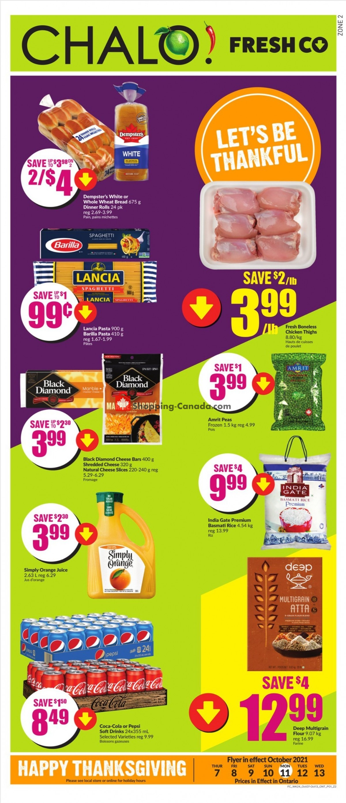 Flyer Chalo FreshCo Canada - from Thursday October 7, 2021 to Wednesday October 13, 2021