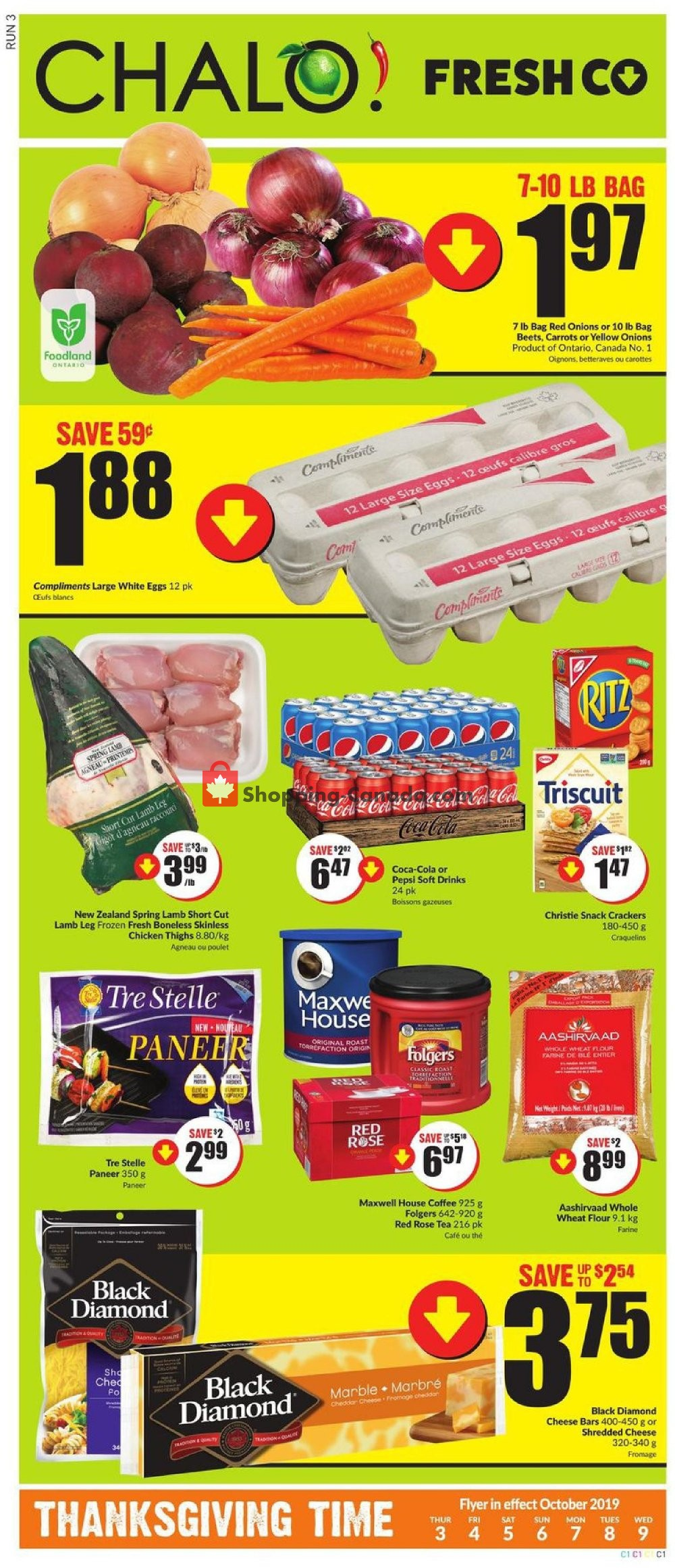 Flyer Chalo FreshCo Canada - from Thursday October 3, 2019 to Wednesday October 9, 2019