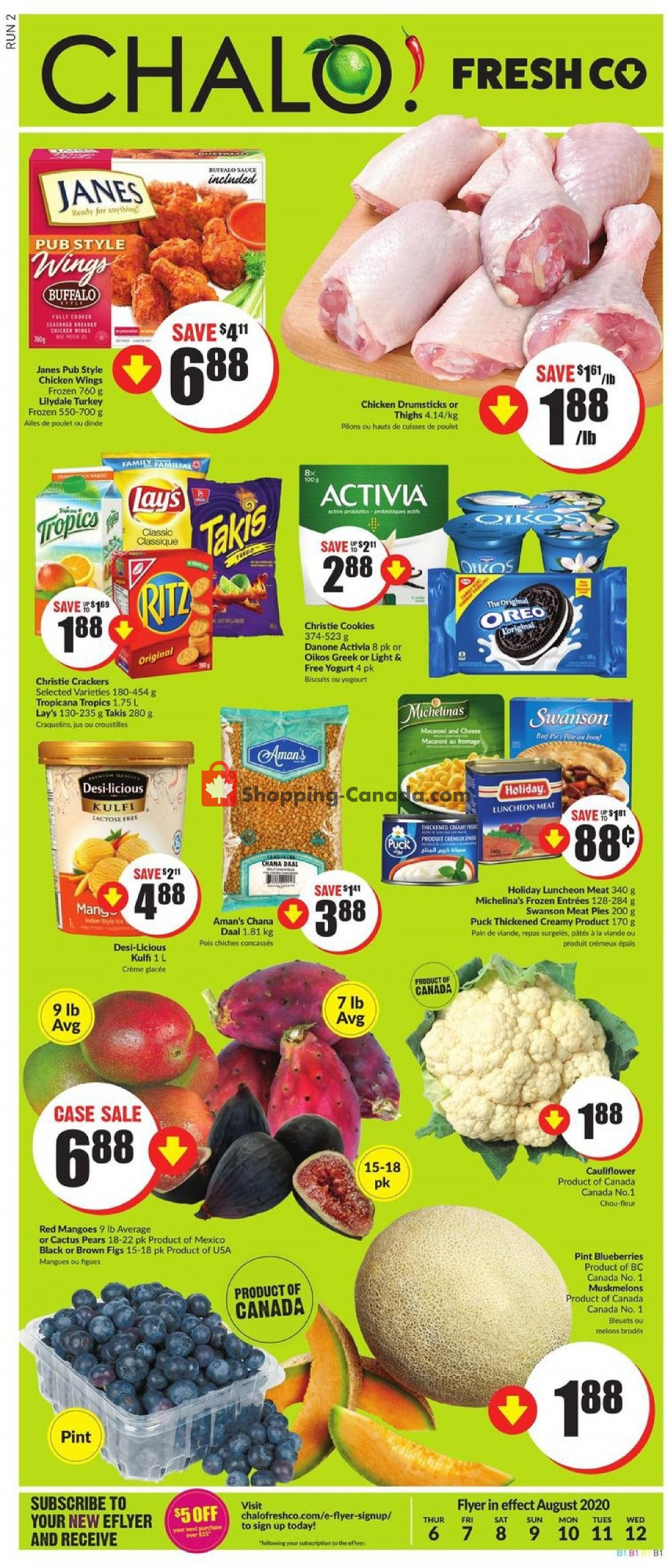 Flyer Chalo FreshCo Canada - from Thursday August 6, 2020 to Wednesday August 12, 2020