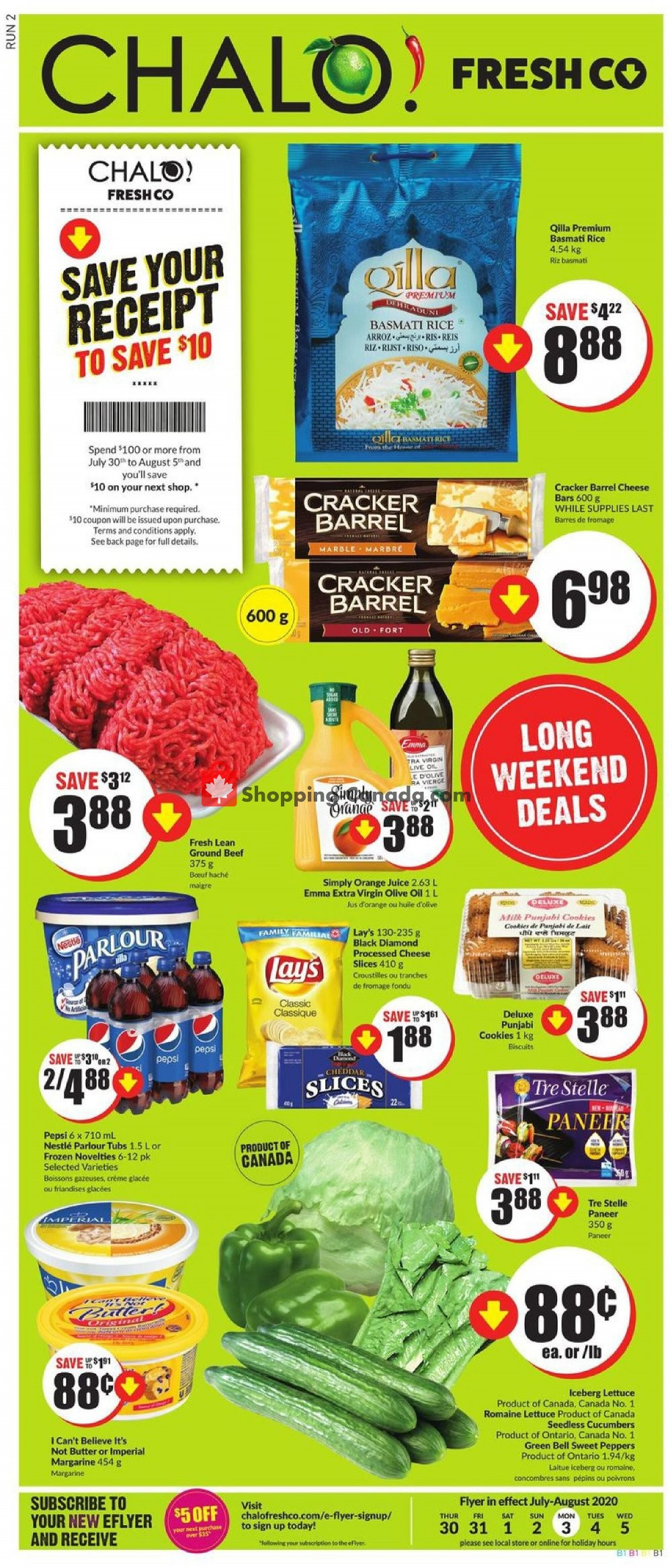Flyer Chalo FreshCo Canada - from Thursday July 30, 2020 to Wednesday August 5, 2020