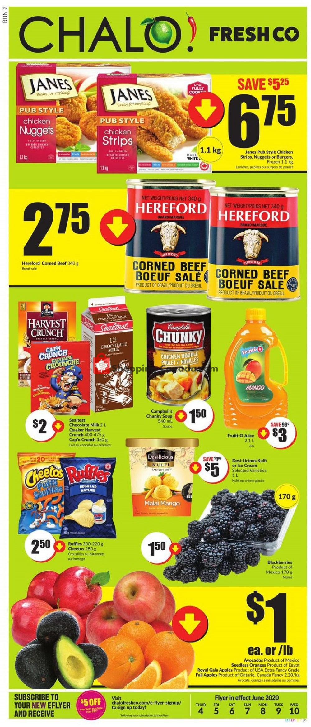 Flyer Chalo FreshCo Canada - from Thursday June 4, 2020 to Wednesday June 10, 2020