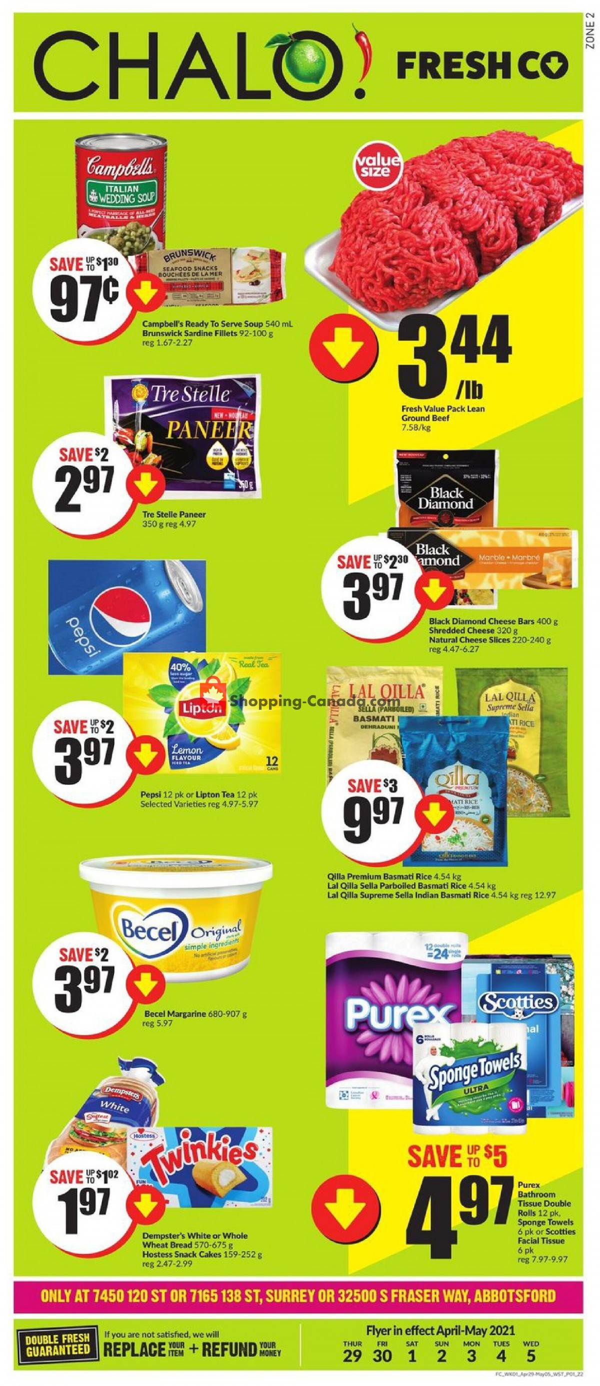 Flyer Chalo FreshCo Canada - from Thursday April 29, 2021 to Wednesday May 5, 2021