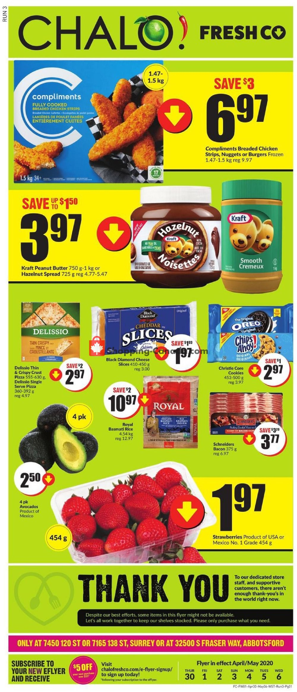 Flyer Chalo FreshCo Canada - from Thursday April 30, 2020 to Wednesday May 6, 2020