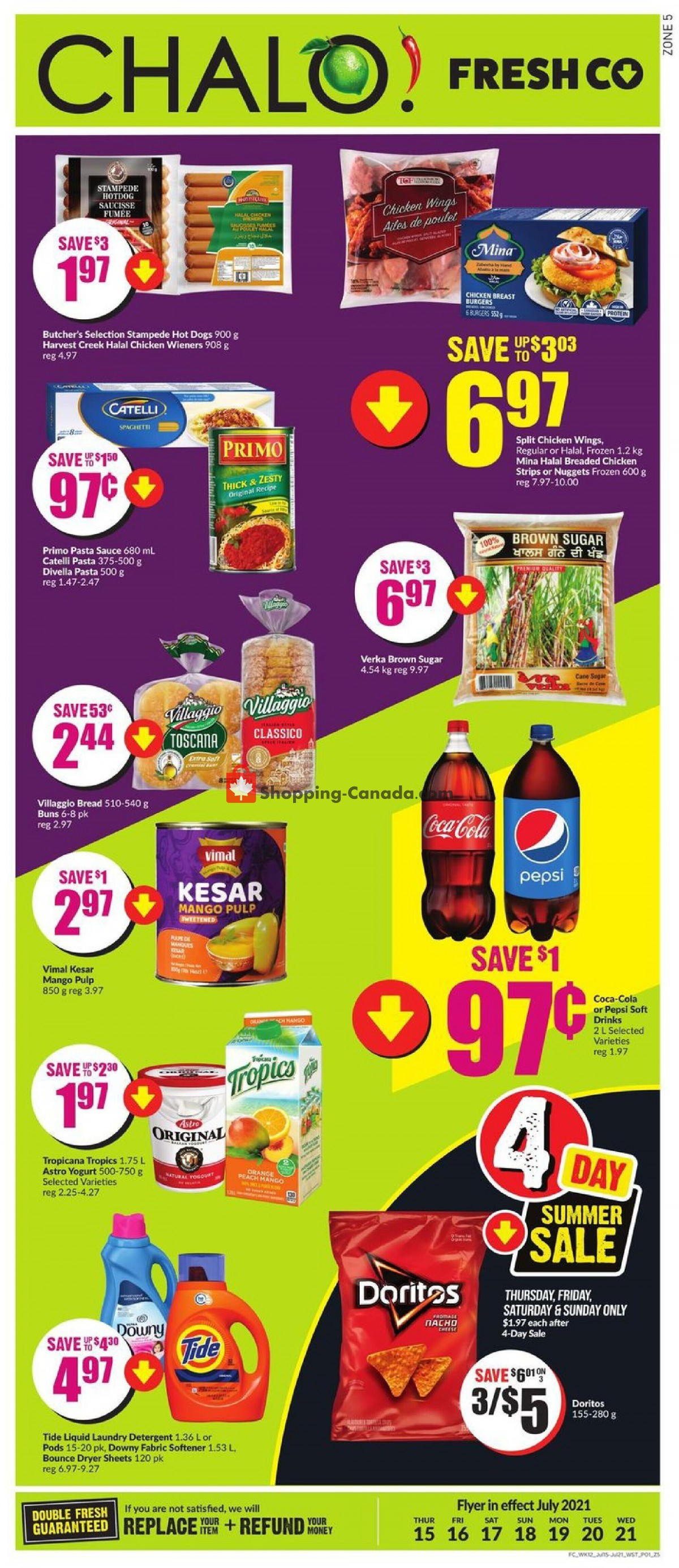 Flyer Chalo FreshCo Canada - from Thursday July 15, 2021 to Wednesday July 21, 2021