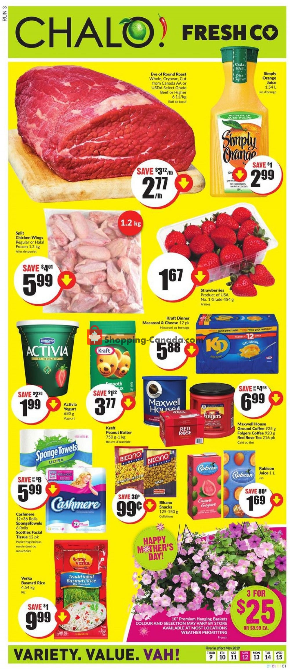 Flyer Chalo FreshCo Canada - from Thursday May 9, 2019 to Wednesday May 15, 2019