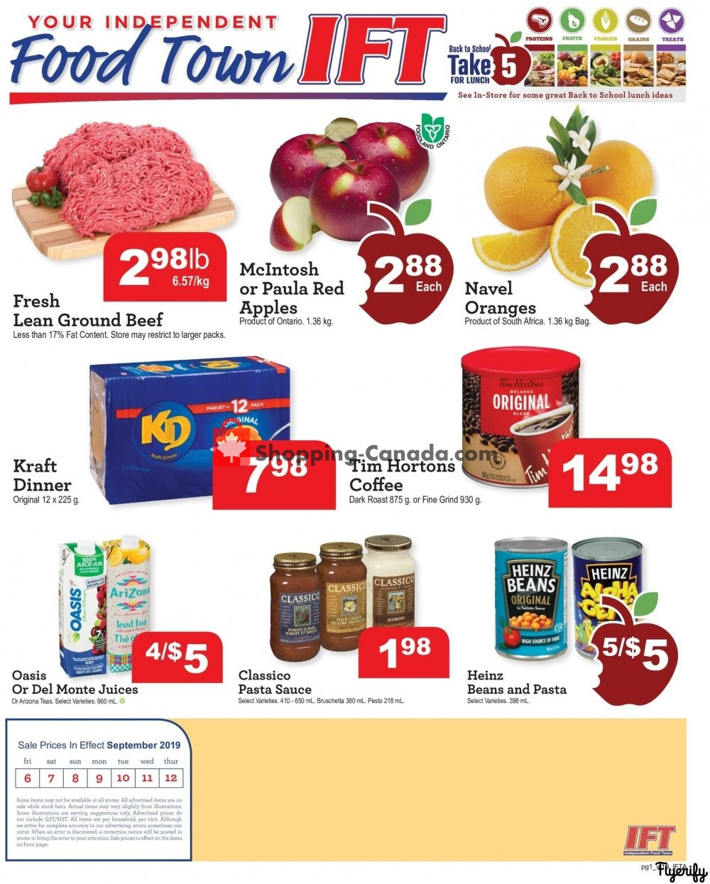 Flyer Chesley Grocery Store Canada - from Friday September 6, 2019 to Thursday September 12, 2019