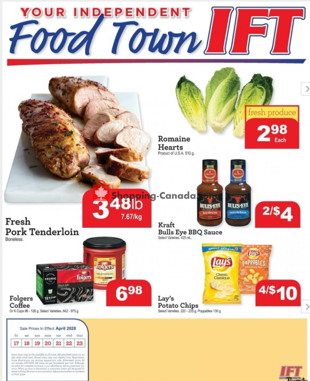 Flyer Chesley Grocery Store Canada - from Friday April 17, 2020 to Thursday April 23, 2020
